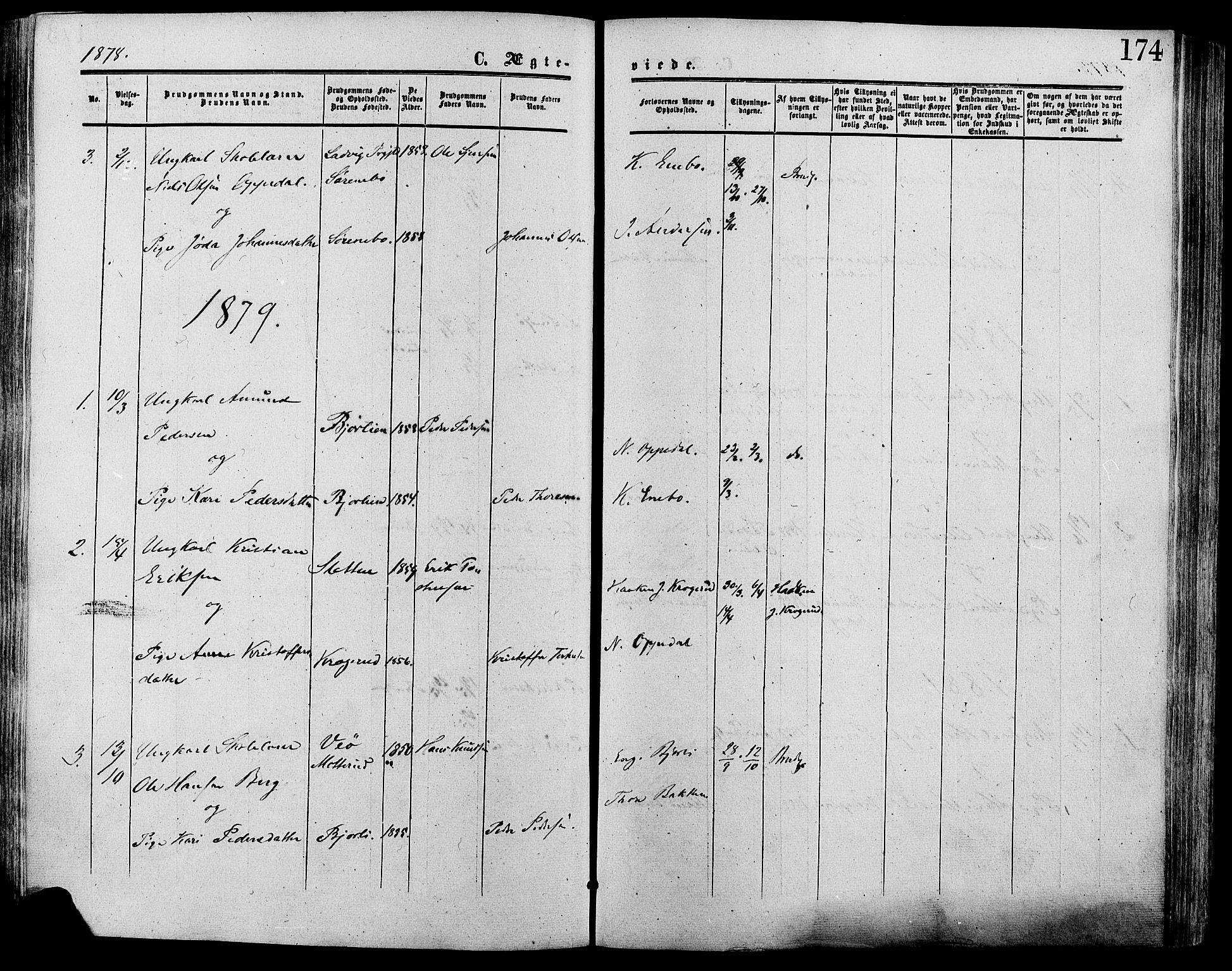 SAH, Lesja prestekontor, Ministerialbok nr. 9, 1854-1889, s. 174