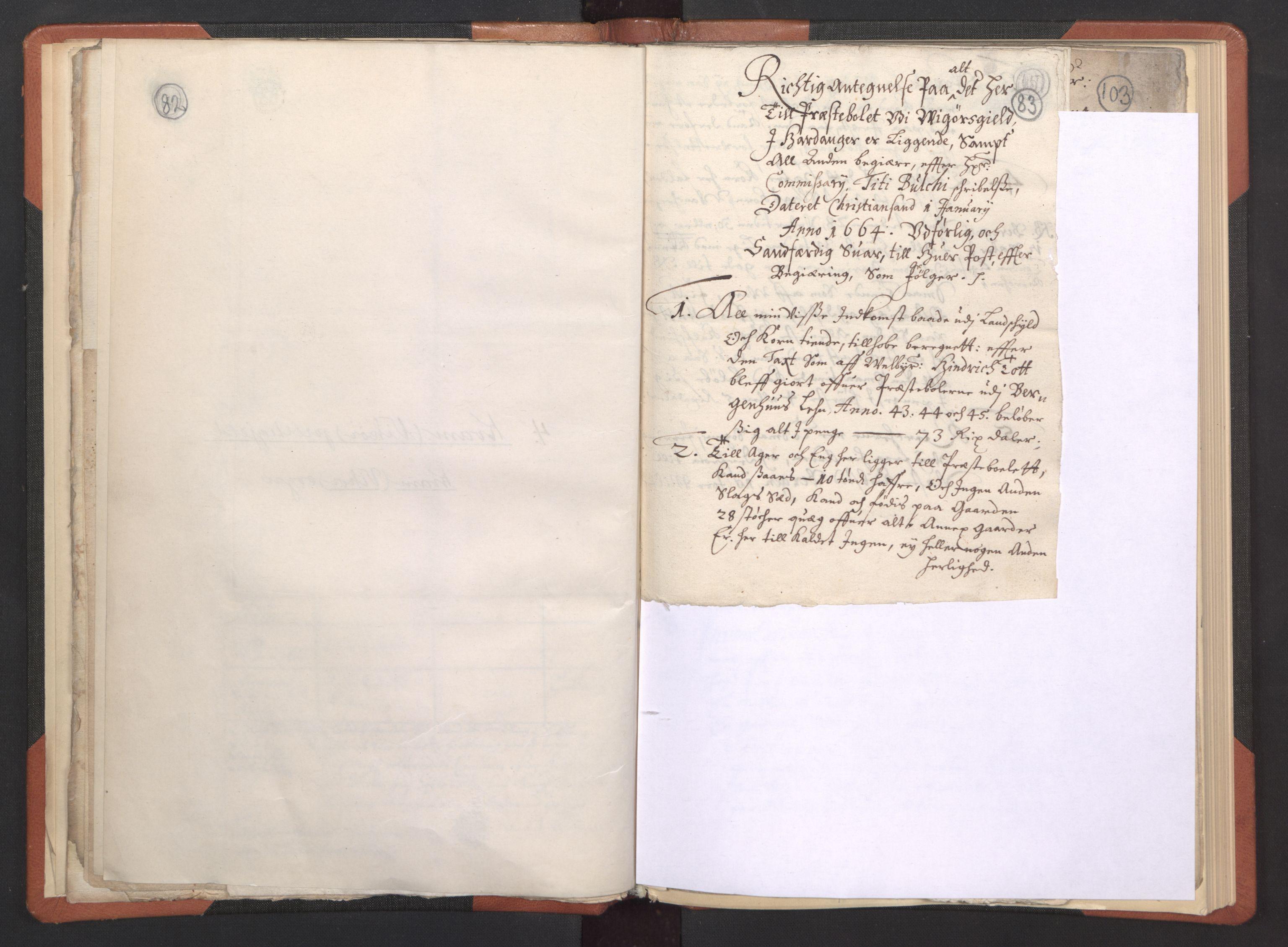 RA, Sogneprestenes manntall 1664-1666, nr. 21: Hardanger prosti, 1664-1666, s. 82-83