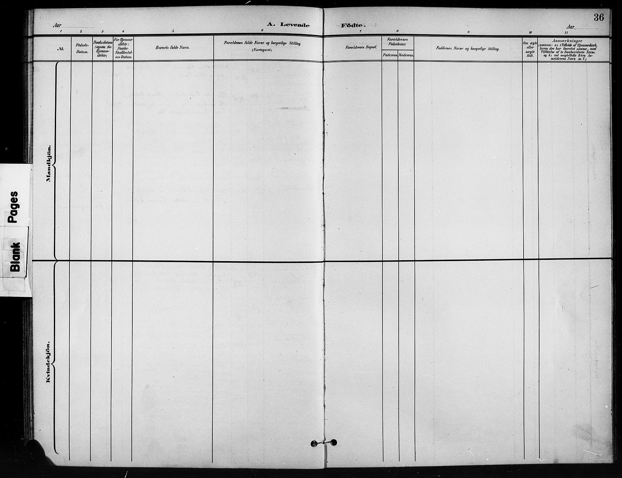 SAH, Nord-Aurdal prestekontor, Klokkerbok nr. 11, 1897-1918, s. 36