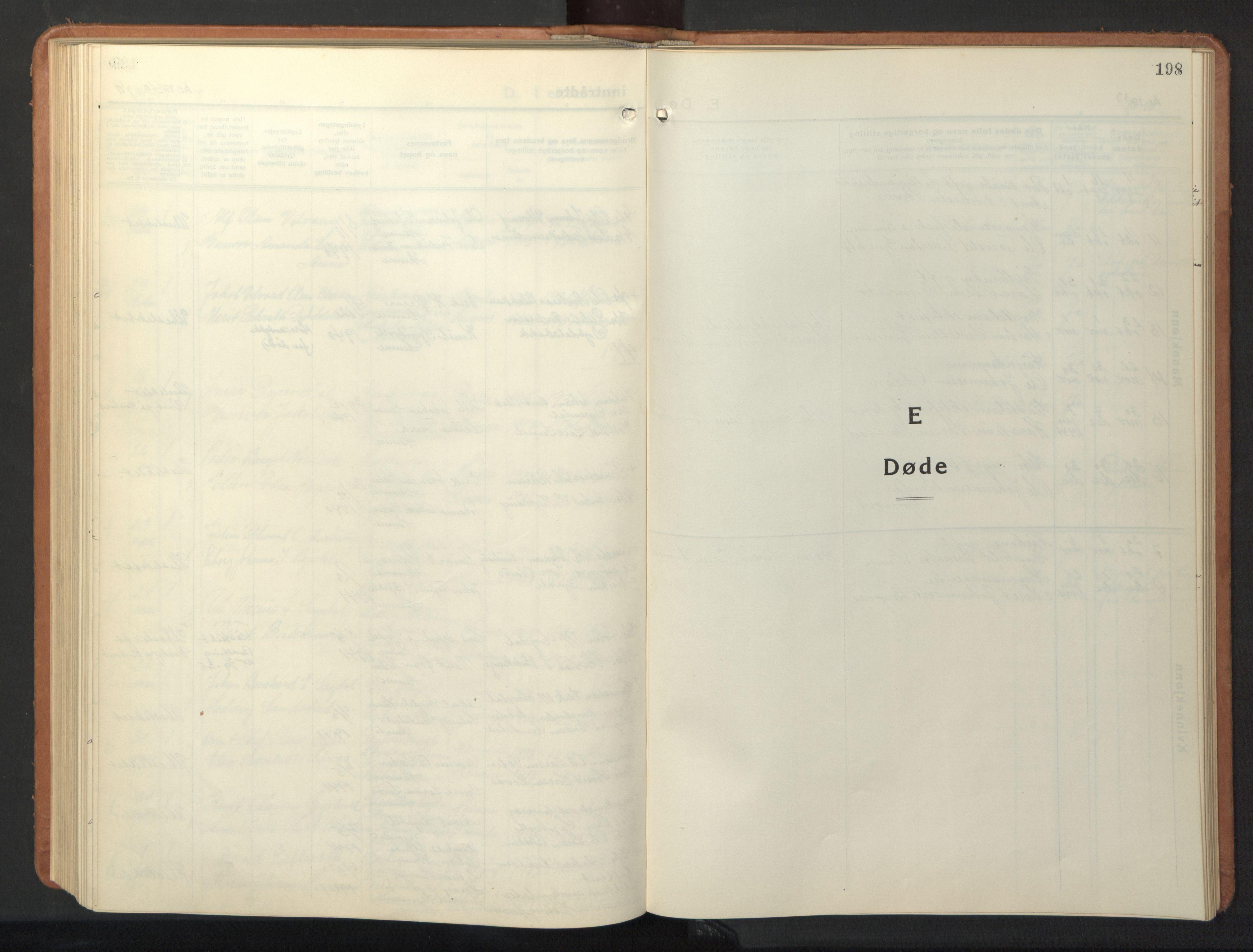SAT, Ministerialprotokoller, klokkerbøker og fødselsregistre - Sør-Trøndelag, 630/L0508: Klokkerbok nr. 630C06, 1933-1950, s. 198