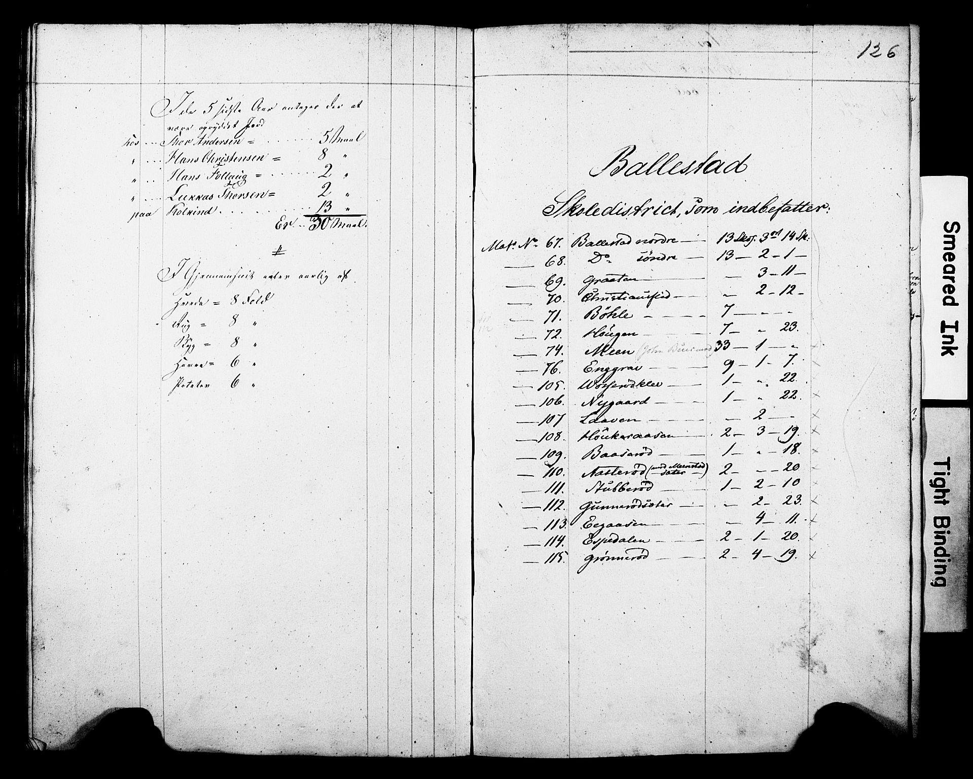 Folketelling 1845 for 0812P Gjerpen prestegjeld, 1845, s. 126