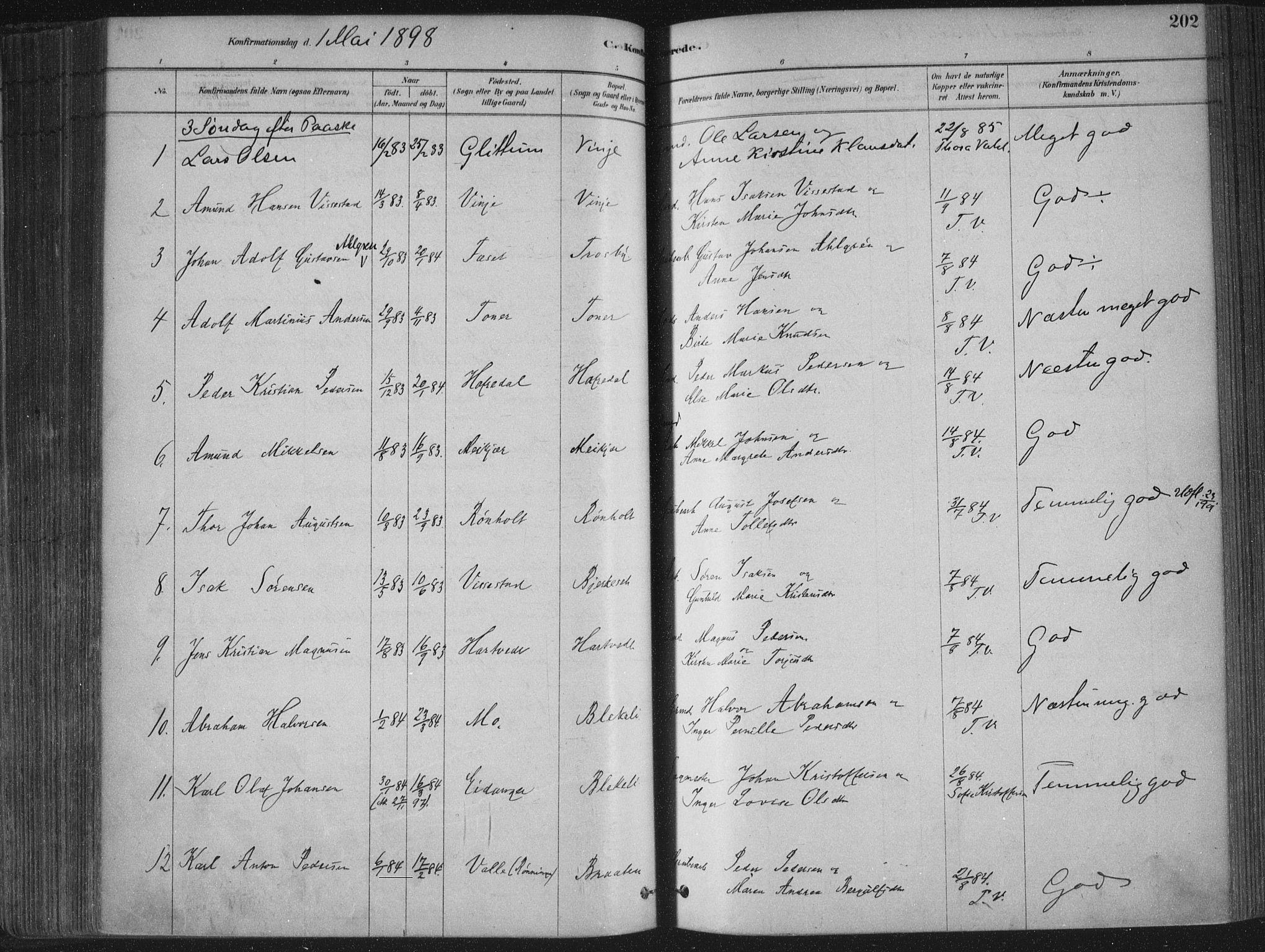 SAKO, Bamble kirkebøker, F/Fa/L0007: Ministerialbok nr. I 7, 1878-1888, s. 202