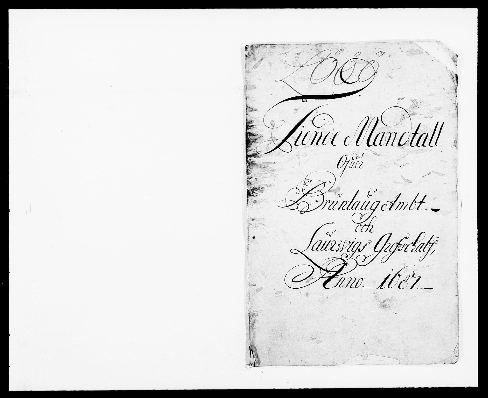 RA, Rentekammeret inntil 1814, Reviderte regnskaper, Fogderegnskap, R33/L1970: Fogderegnskap Larvik grevskap, 1675-1687, s. 383