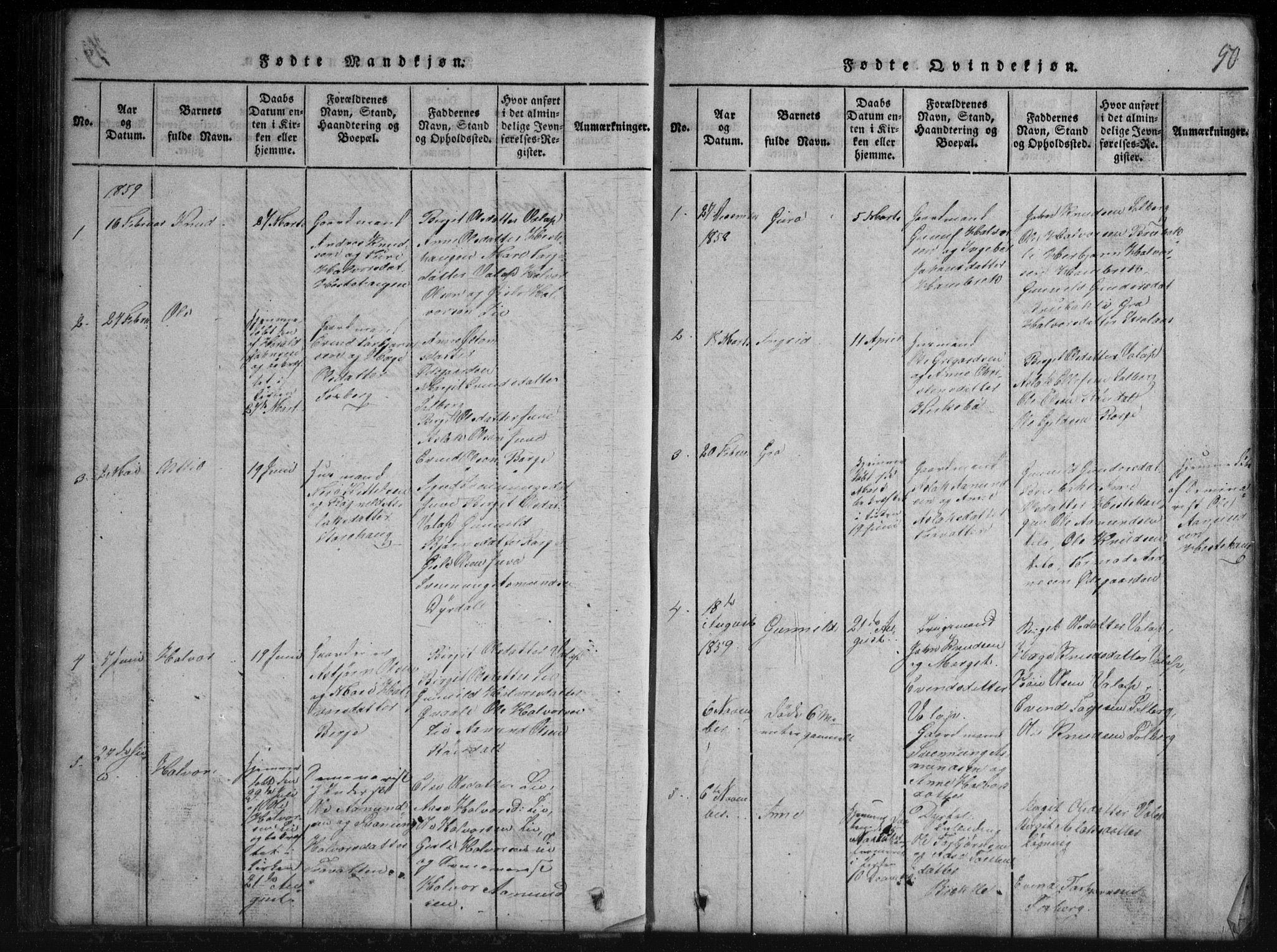 SAKO, Rauland kirkebøker, G/Gb/L0001: Klokkerbok nr. II 1, 1815-1886, s. 50
