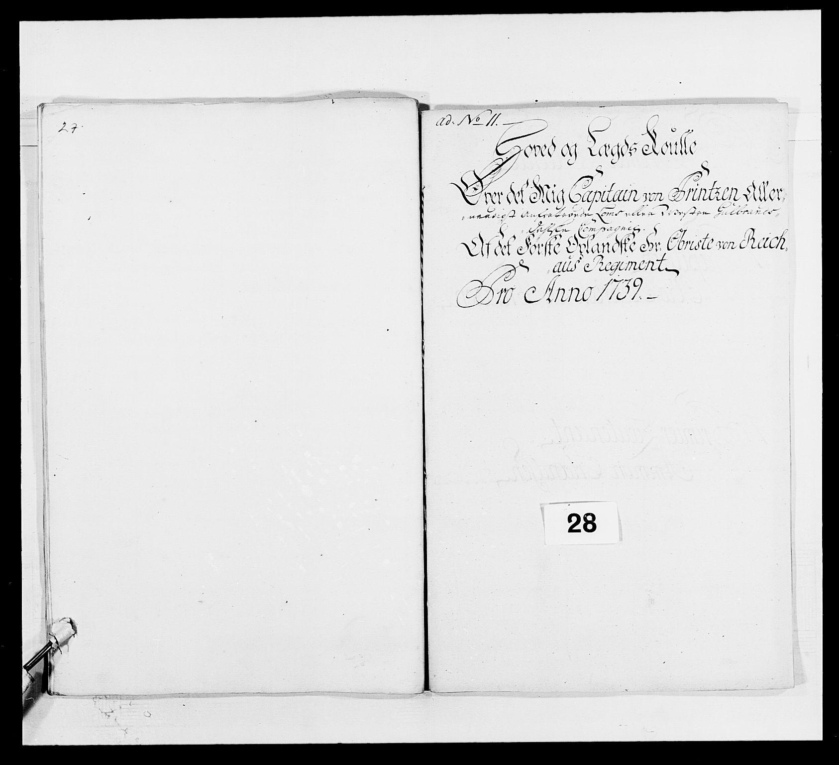 RA, Kommanderende general (KG I) med Det norske krigsdirektorium, E/Ea/L0502: 1. Opplandske regiment, 1720-1743, s. 333
