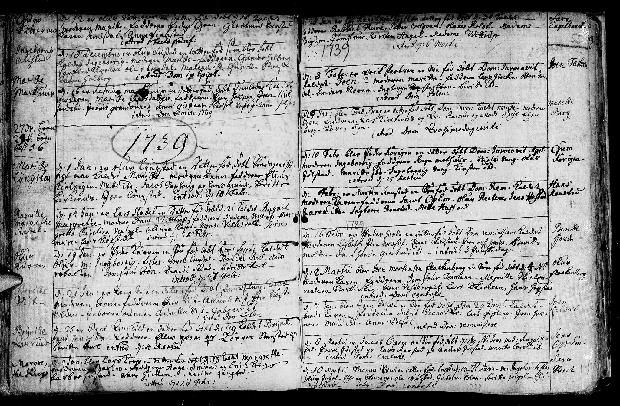 SAT, Ministerialprotokoller, klokkerbøker og fødselsregistre - Nord-Trøndelag, 730/L0272: Ministerialbok nr. 730A01, 1733-1764, s. 55