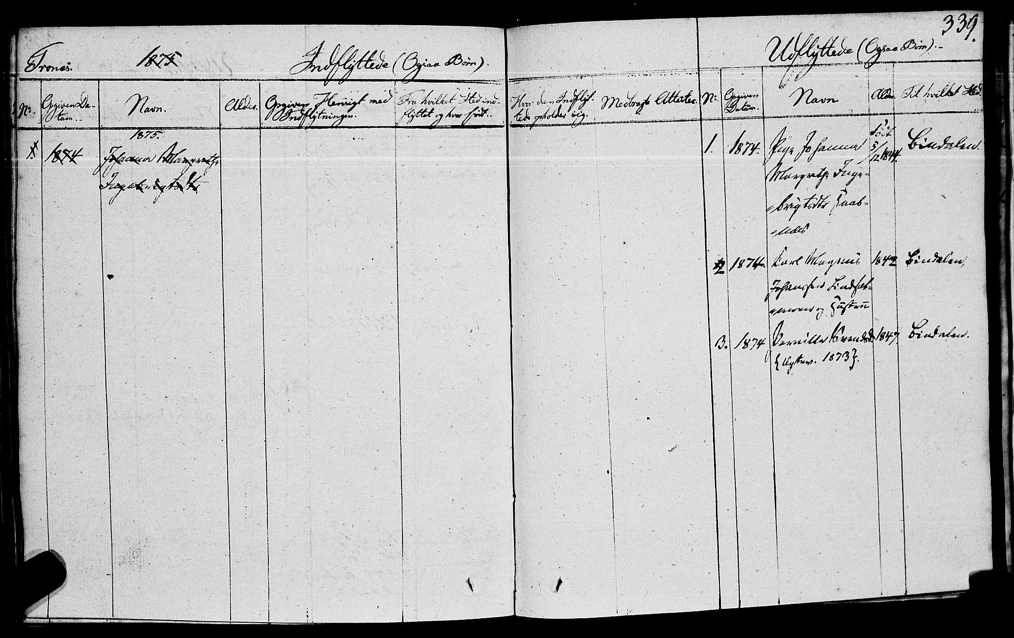 SAT, Ministerialprotokoller, klokkerbøker og fødselsregistre - Nord-Trøndelag, 762/L0538: Ministerialbok nr. 762A02 /2, 1833-1879, s. 339