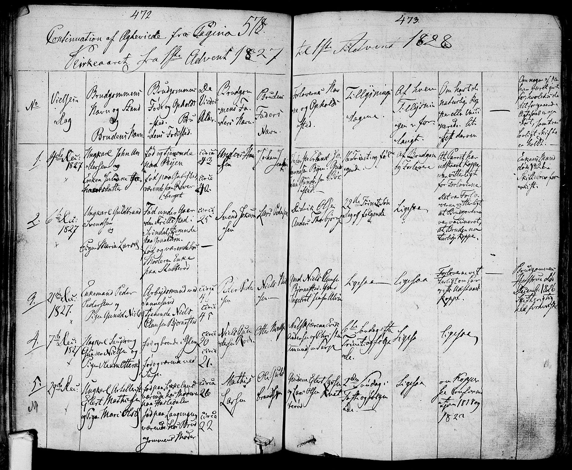 SAO, Tune prestekontor Kirkebøker, F/Fa/L0006: Ministerialbok nr. 6, 1823-1831, s. 472-473