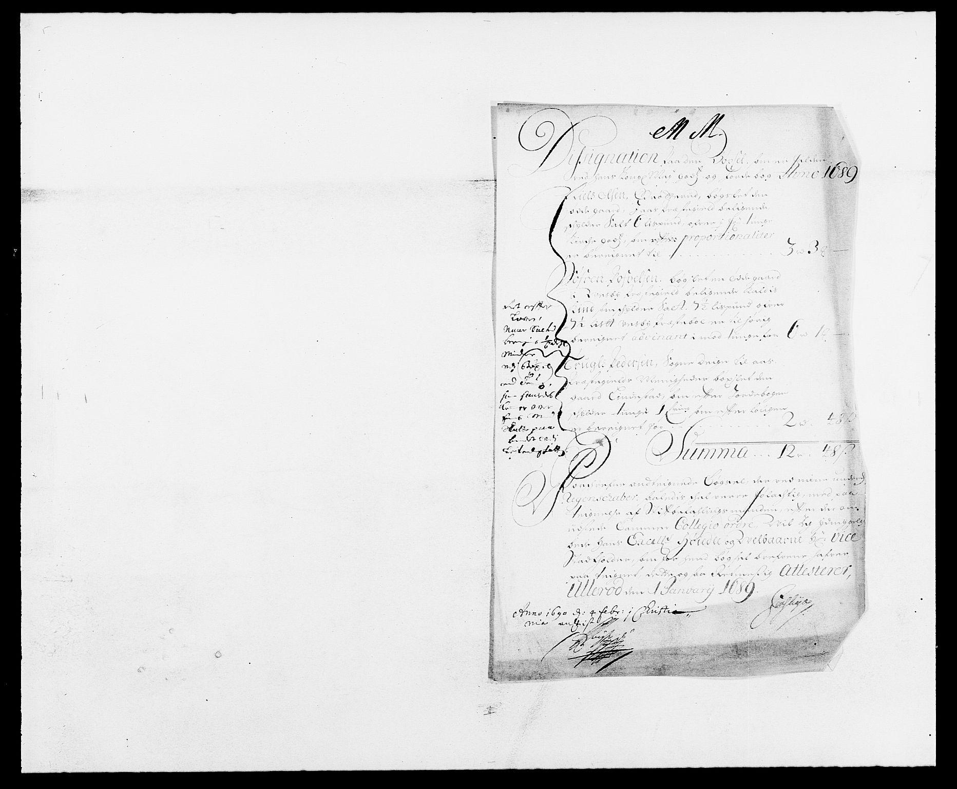 RA, Rentekammeret inntil 1814, Reviderte regnskaper, Fogderegnskap, R09/L0435: Fogderegnskap Follo, 1689-1691, s. 23