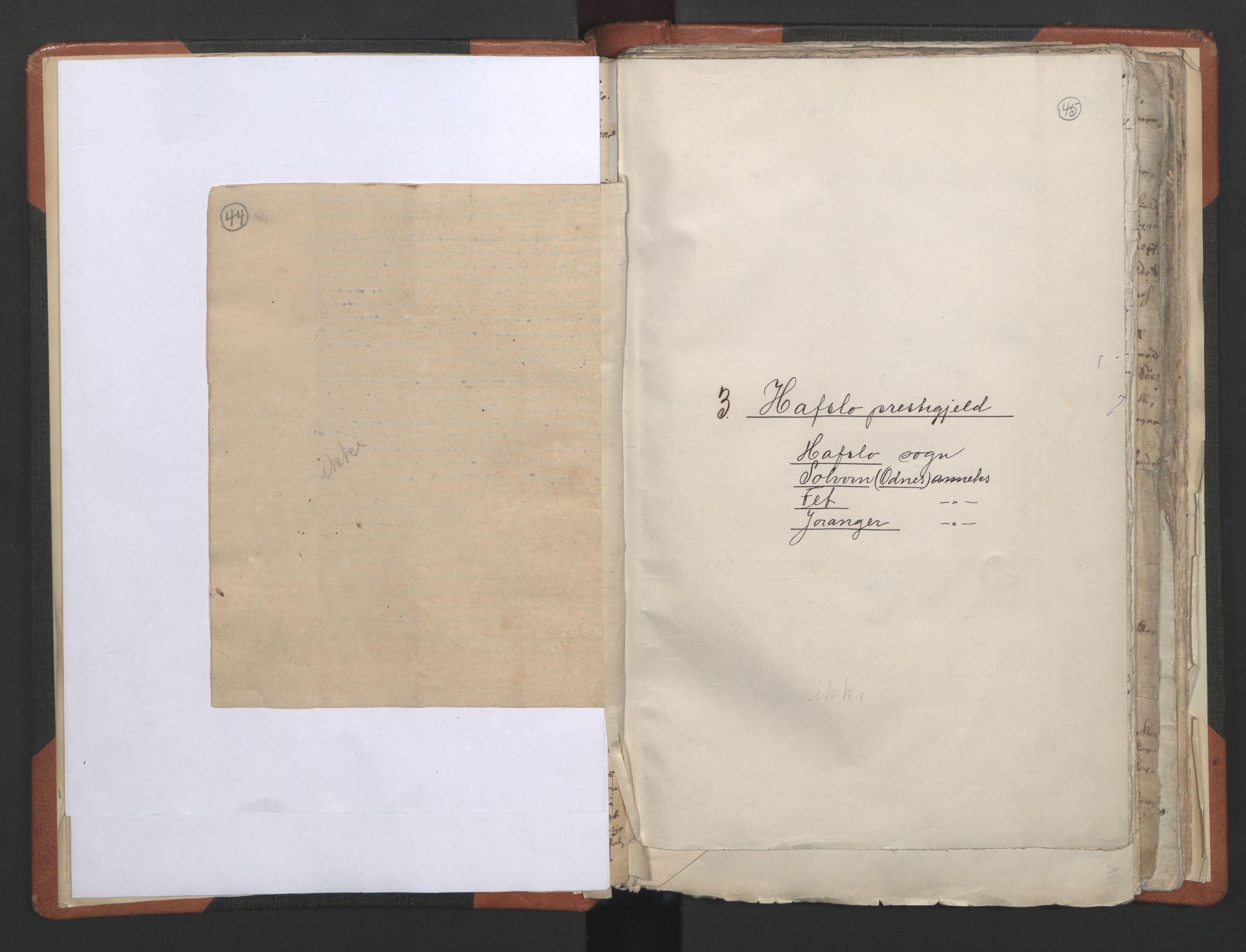 RA, Sogneprestenes manntall 1664-1666, nr. 23: Sogn prosti, 1664-1666, s. 44-45