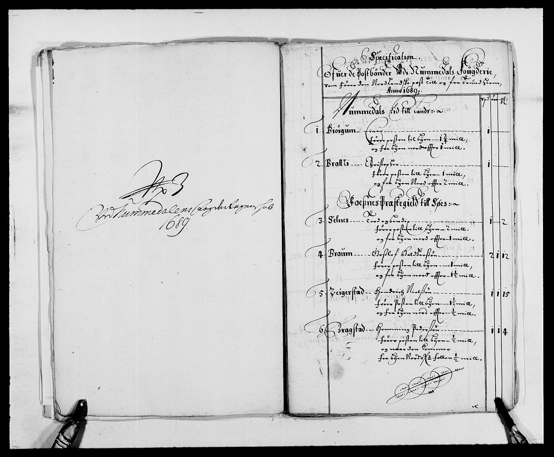 RA, Rentekammeret inntil 1814, Reviderte regnskaper, Fogderegnskap, R64/L4422: Fogderegnskap Namdal, 1687-1689, s. 295
