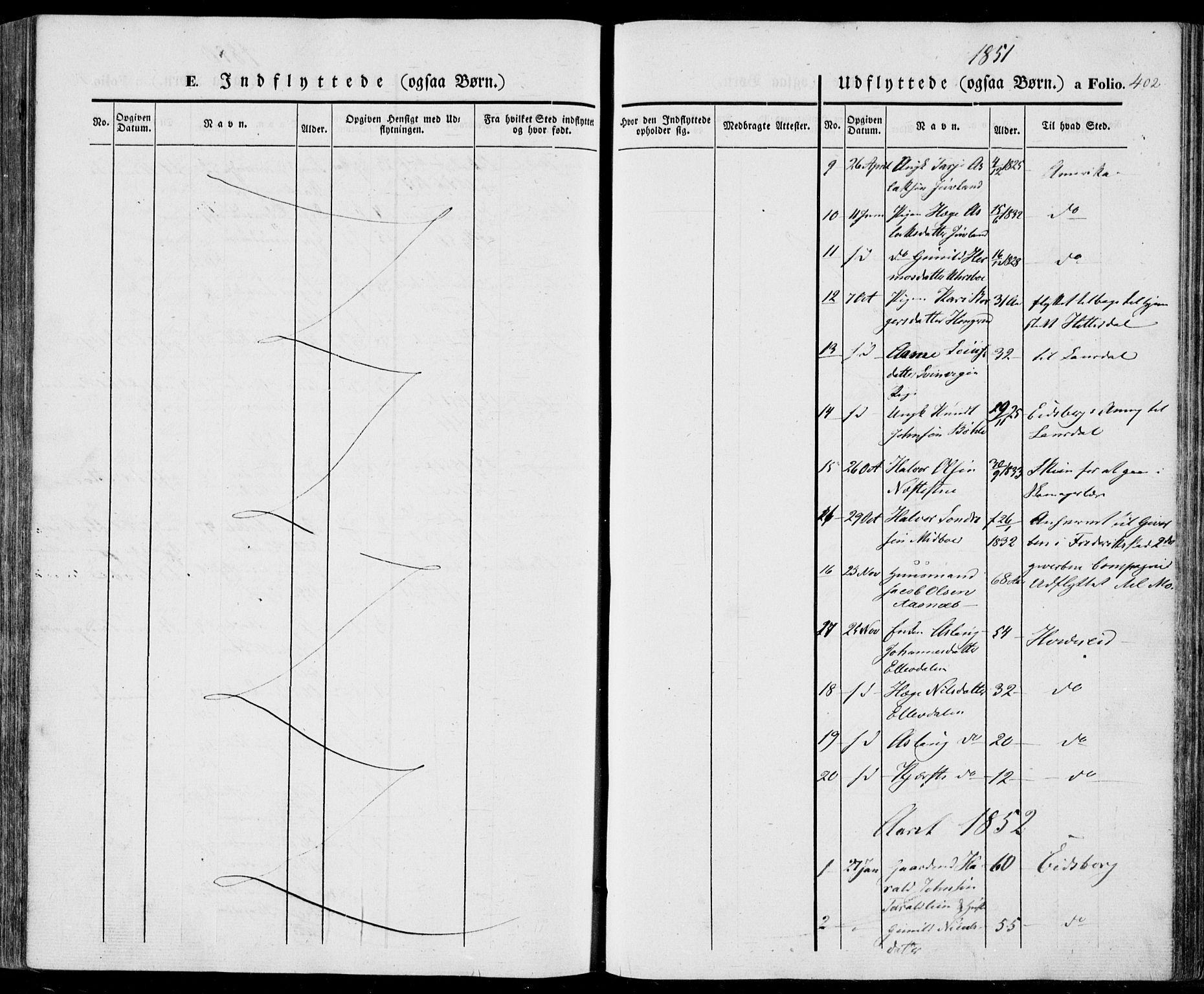 SAKO, Vinje kirkebøker, F/Fa/L0004: Ministerialbok nr. I 4, 1843-1869, s. 402