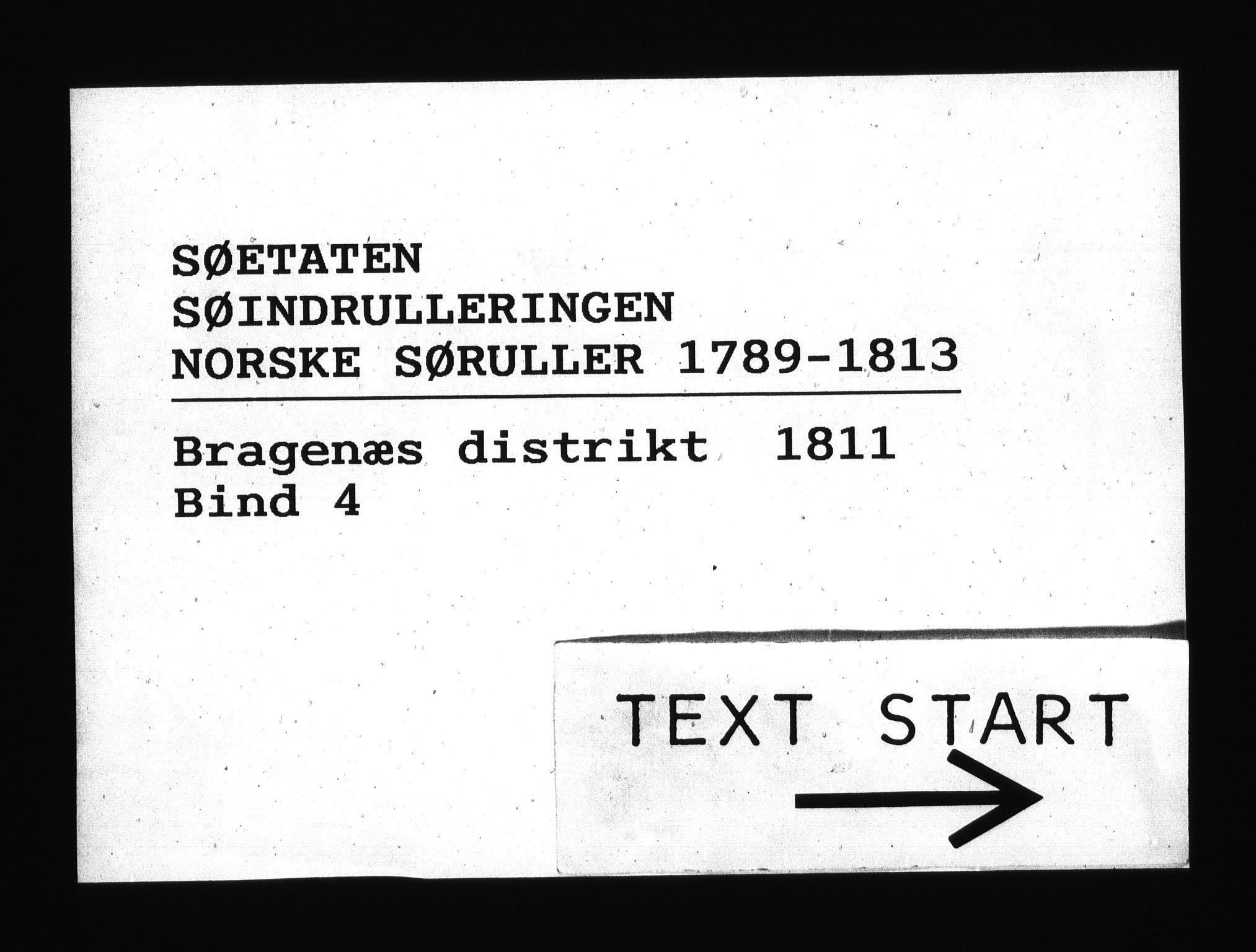 RA, Sjøetaten, F/L0163: Bragernes distrikt, bind 4, 1811