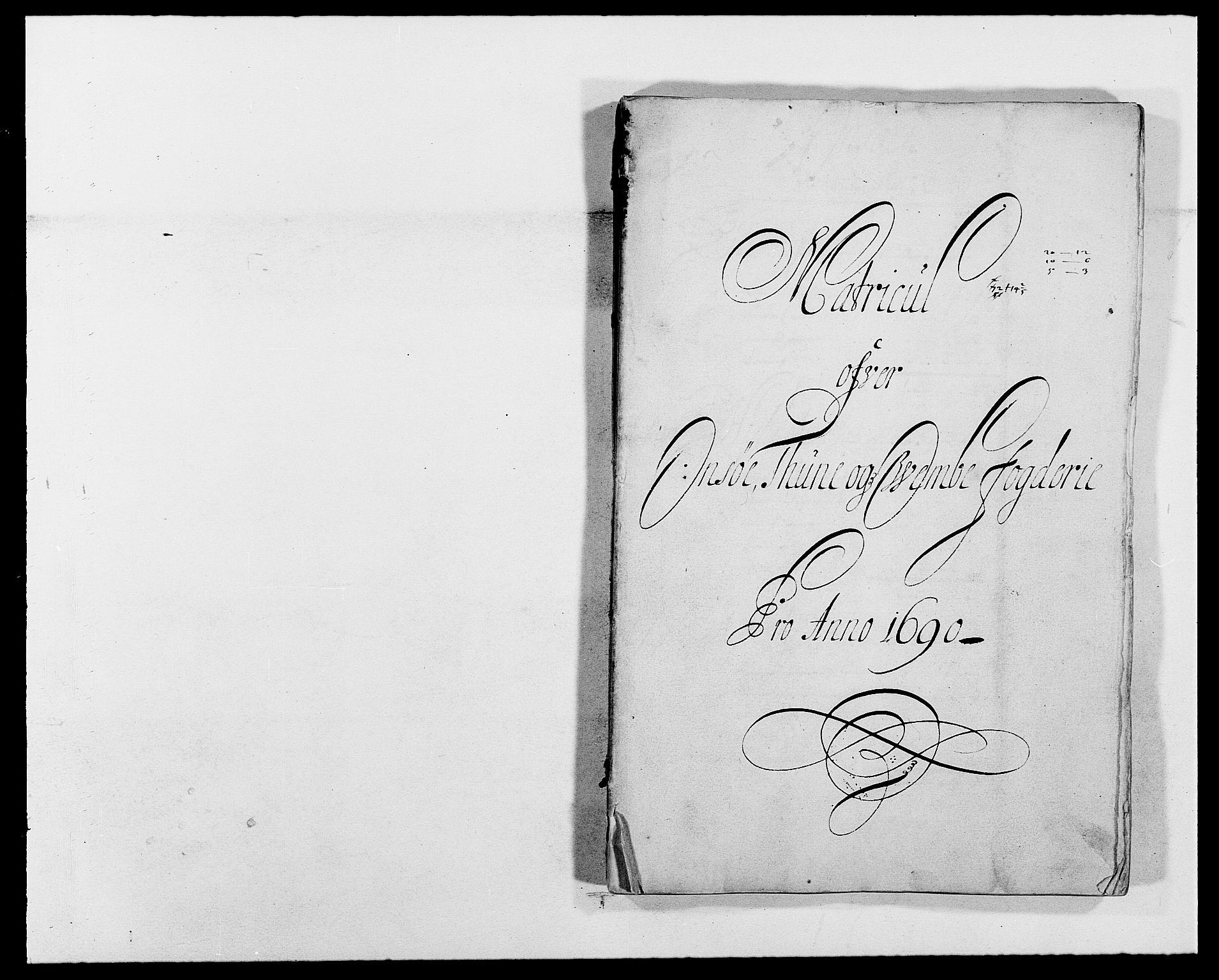 RA, Rentekammeret inntil 1814, Reviderte regnskaper, Fogderegnskap, R03/L0119: Fogderegnskap Onsøy, Tune, Veme og Åbygge fogderi, 1690-1691, s. 24