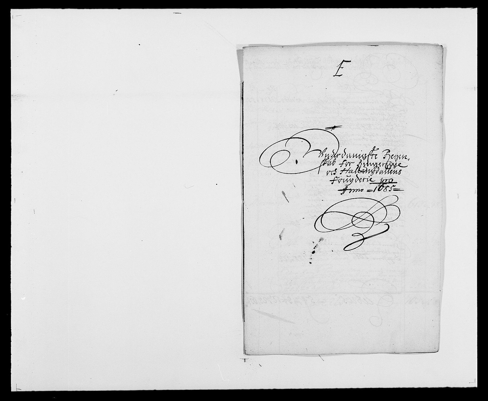 RA, Rentekammeret inntil 1814, Reviderte regnskaper, Fogderegnskap, R21/L1446: Fogderegnskap Ringerike og Hallingdal, 1683-1686, s. 285