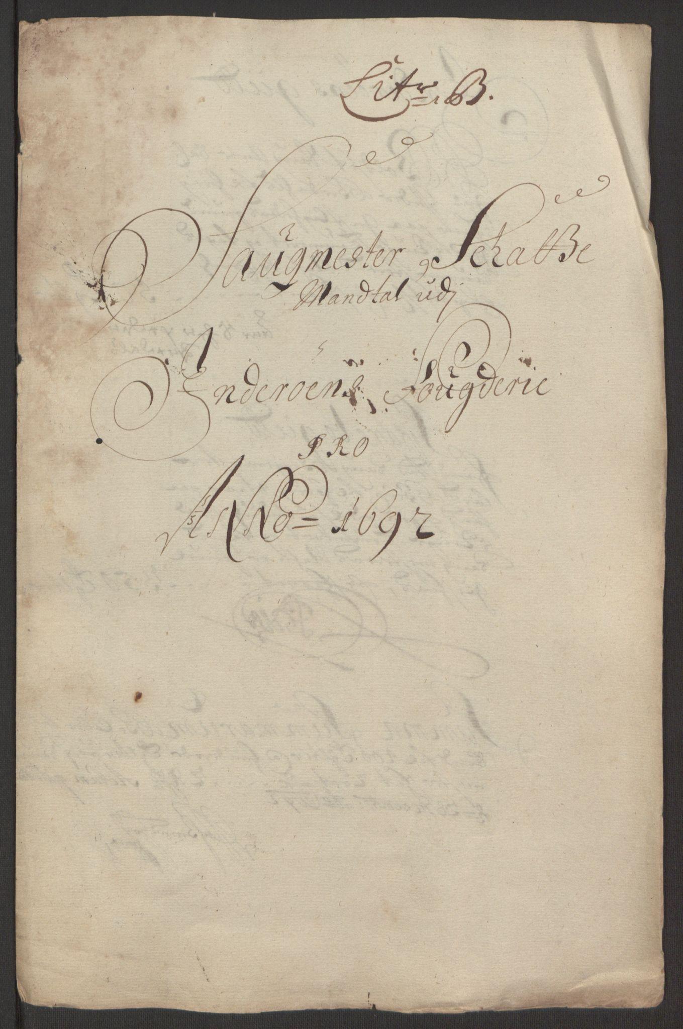 RA, Rentekammeret inntil 1814, Reviderte regnskaper, Fogderegnskap, R63/L4308: Fogderegnskap Inderøy, 1692-1694, s. 71