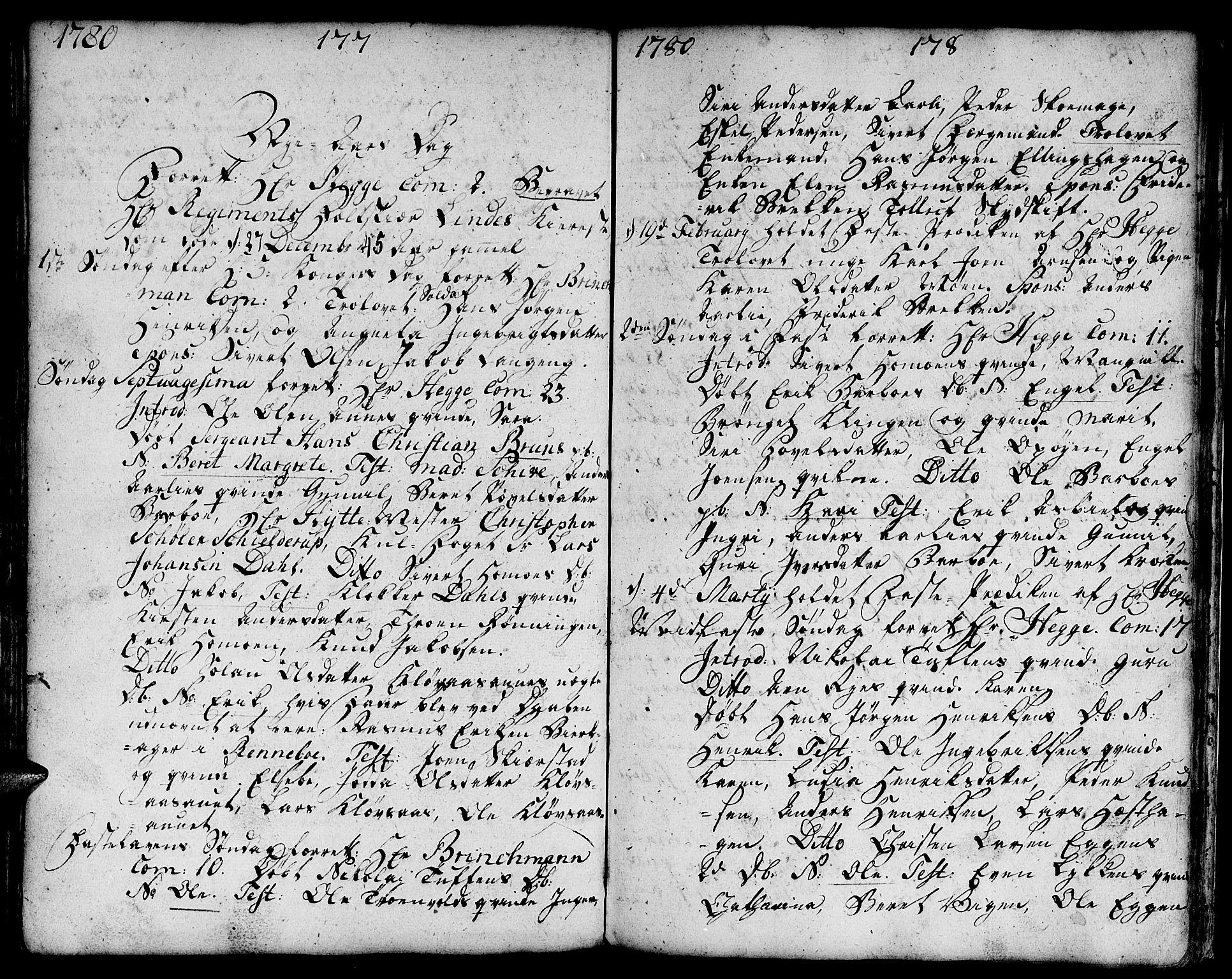 SAT, Ministerialprotokoller, klokkerbøker og fødselsregistre - Sør-Trøndelag, 671/L0840: Ministerialbok nr. 671A02, 1756-1794, s. 277-278
