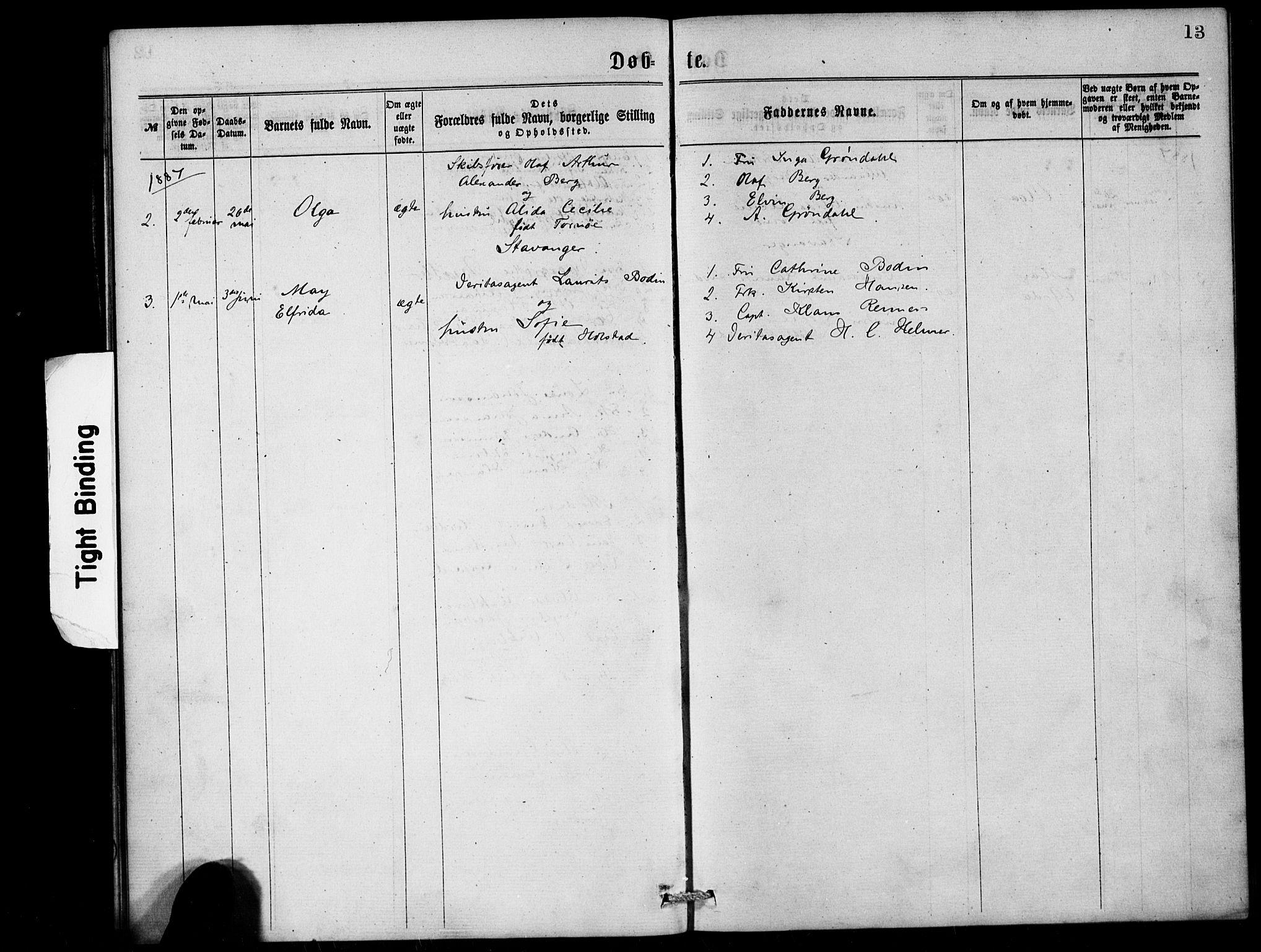 SAB, Den Norske Sjømannsmisjon i utlandet*, Ministerialbok nr. A 1, 1868-1887, s. 13