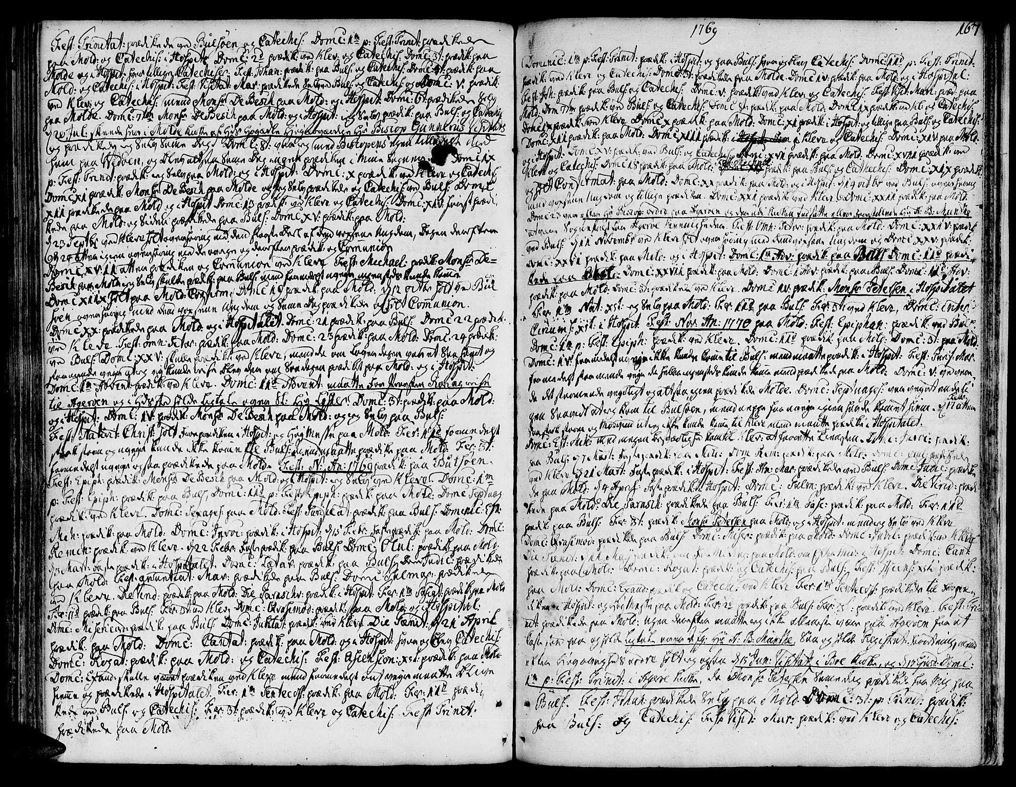 SAT, Ministerialprotokoller, klokkerbøker og fødselsregistre - Møre og Romsdal, 555/L0648: Ministerialbok nr. 555A01, 1759-1793, s. 167