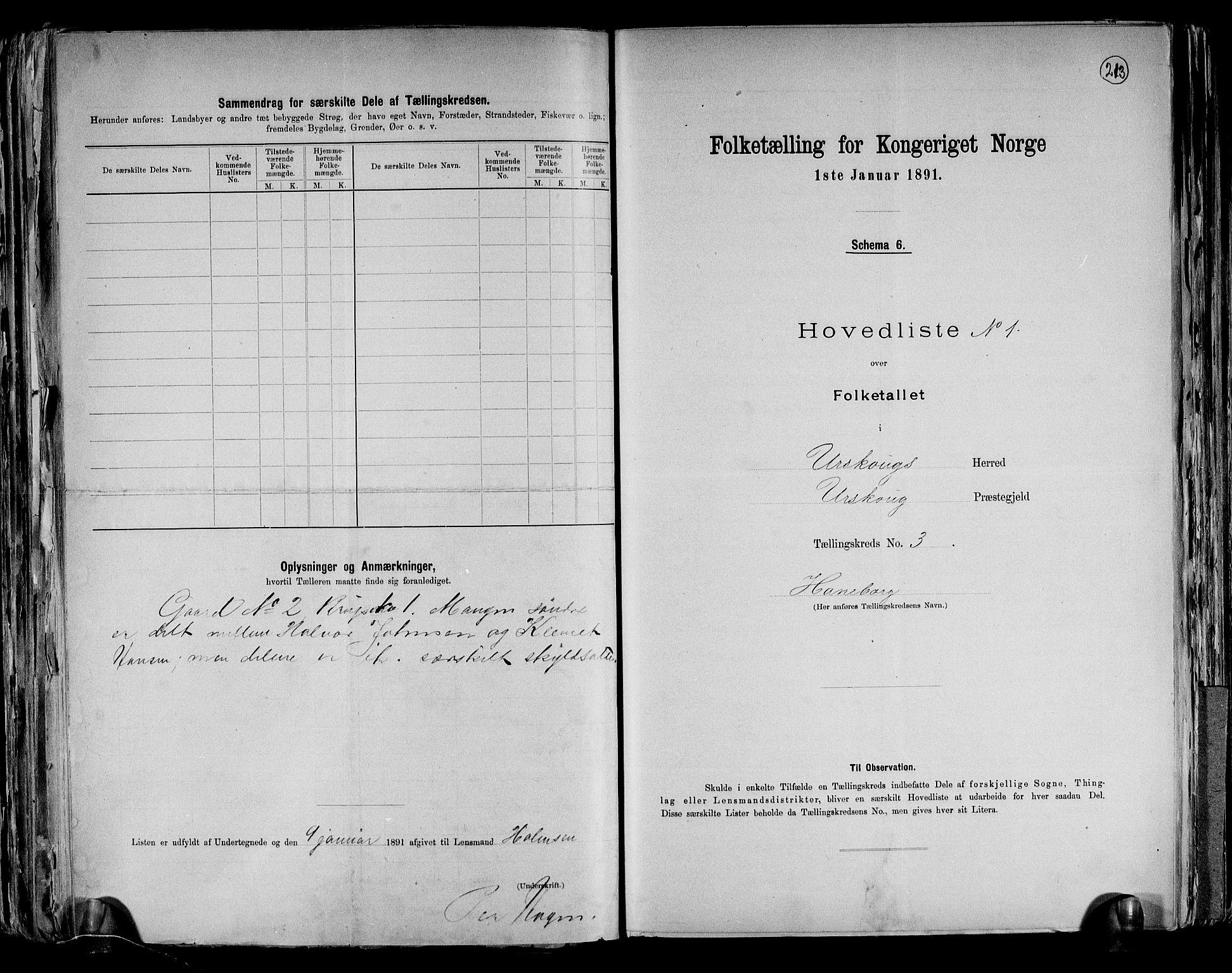 RA, Folketelling 1891 for 0224 Aurskog herred, 1891, s. 10