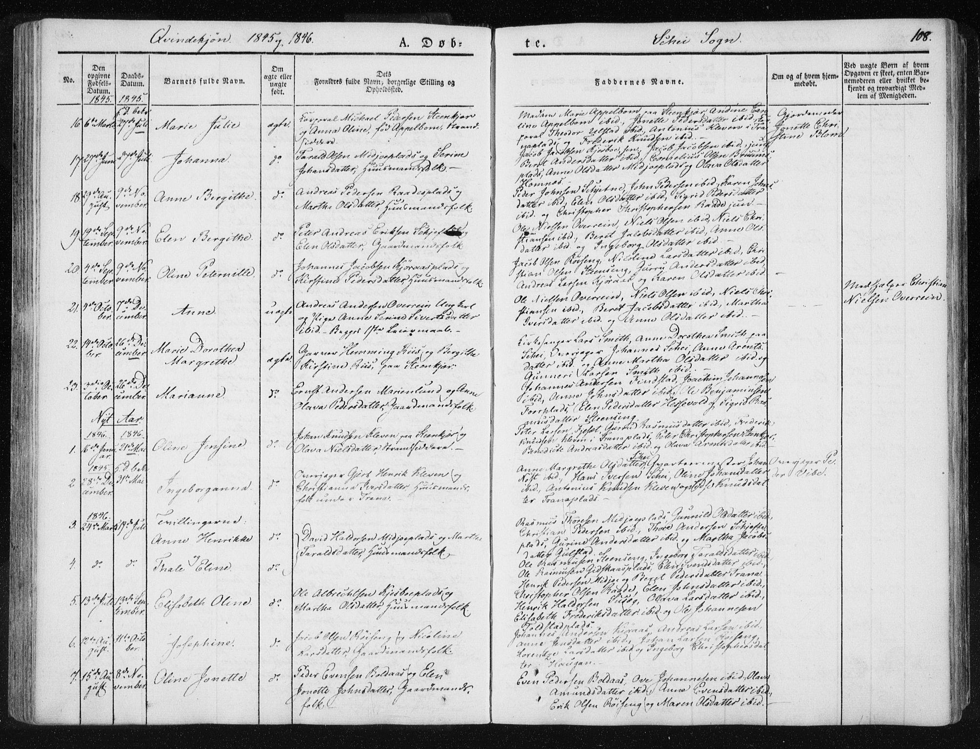 SAT, Ministerialprotokoller, klokkerbøker og fødselsregistre - Nord-Trøndelag, 735/L0339: Ministerialbok nr. 735A06 /2, 1836-1848, s. 108