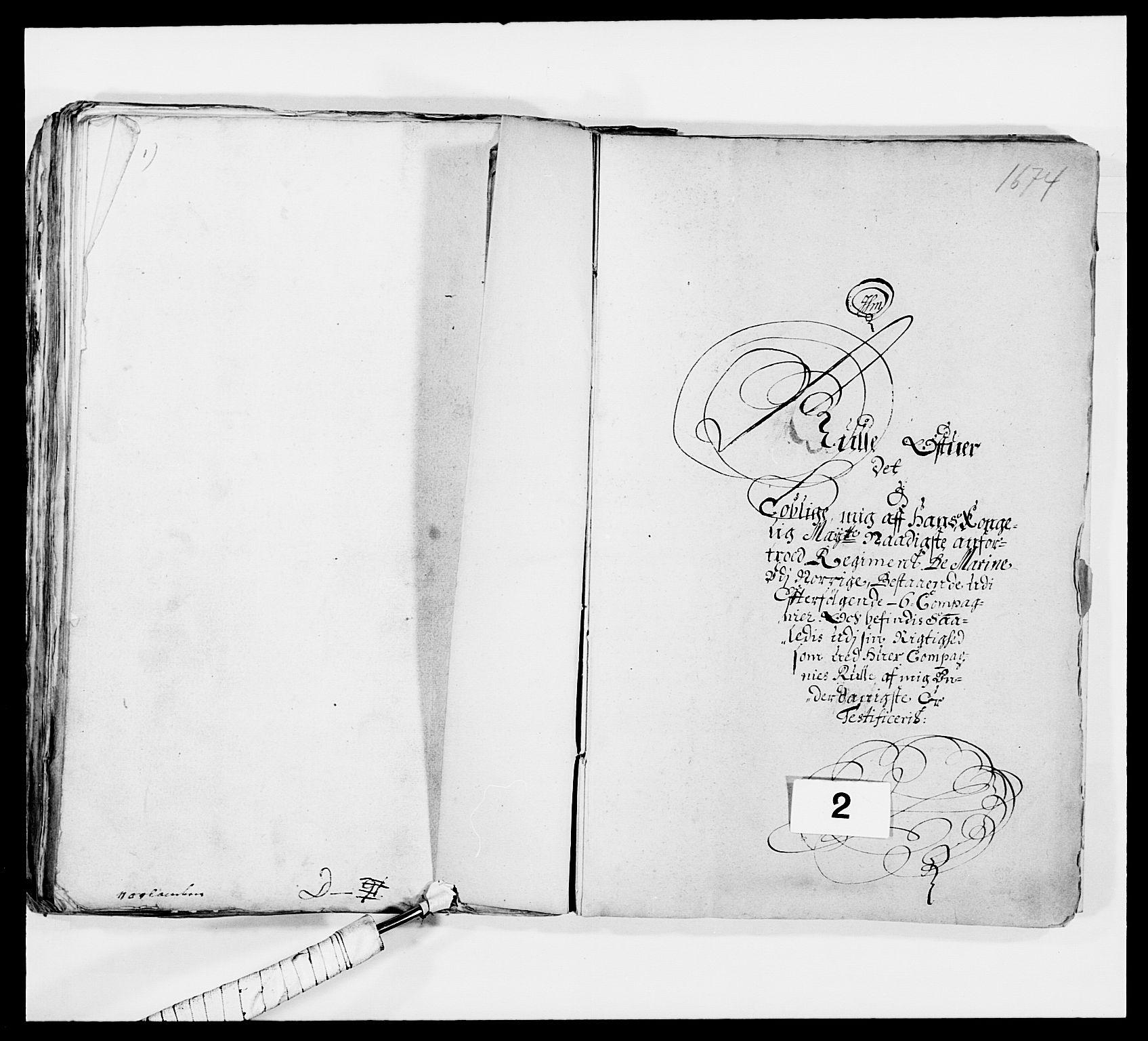 RA, Kommanderende general (KG I) med Det norske krigsdirektorium, E/Ea/L0473: Marineregimentet, 1664-1700, s. 80