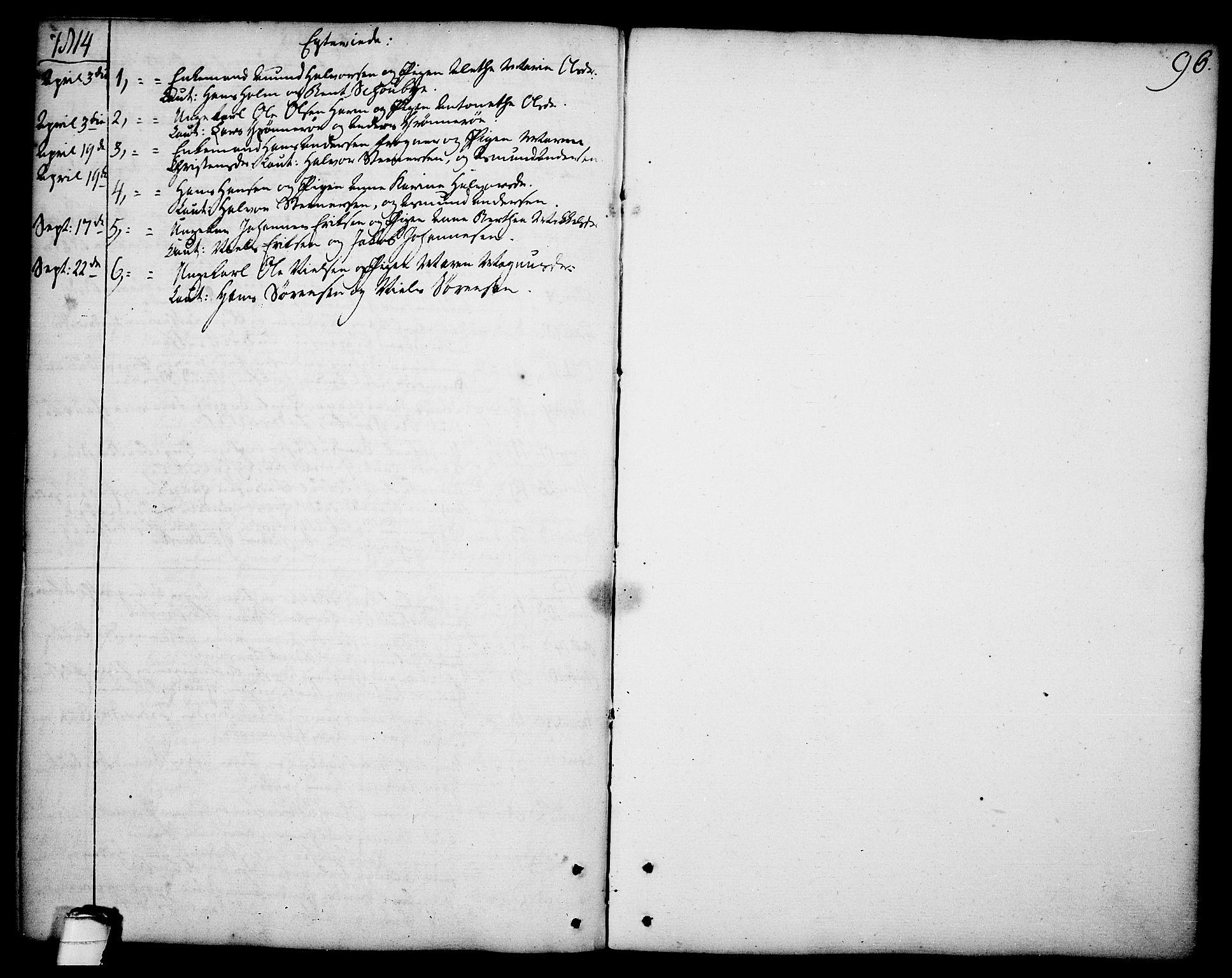 SAKO, Brevik kirkebøker, F/Fa/L0003: Ministerialbok nr. 3, 1764-1814, s. 96