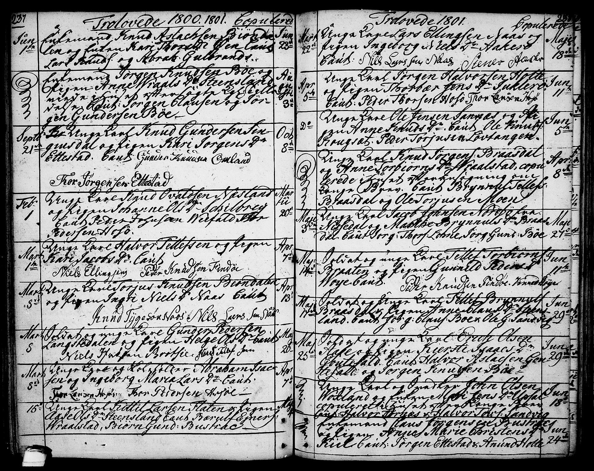 SAKO, Drangedal kirkebøker, F/Fa/L0003: Ministerialbok nr. 3, 1768-1814, s. 237-238