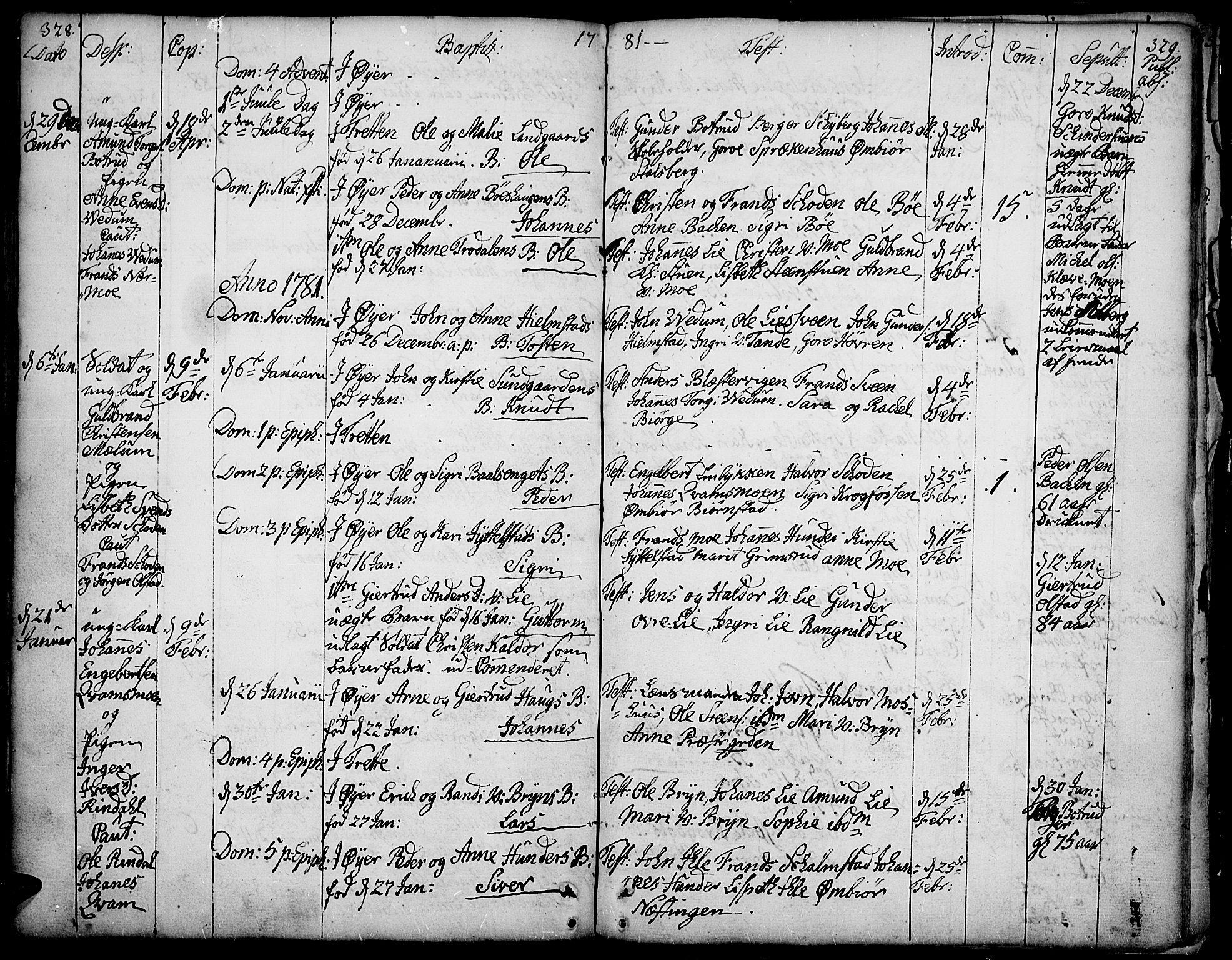 SAH, Øyer prestekontor, Ministerialbok nr. 2, 1733-1784, s. 328-329