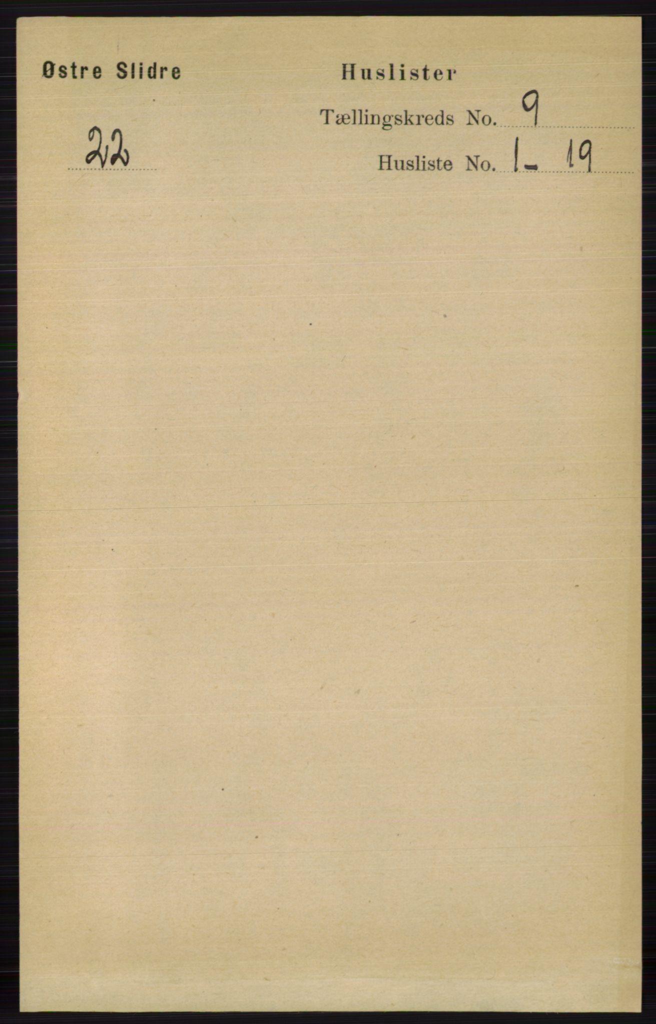 RA, Folketelling 1891 for 0544 Øystre Slidre herred, 1891, s. 3015
