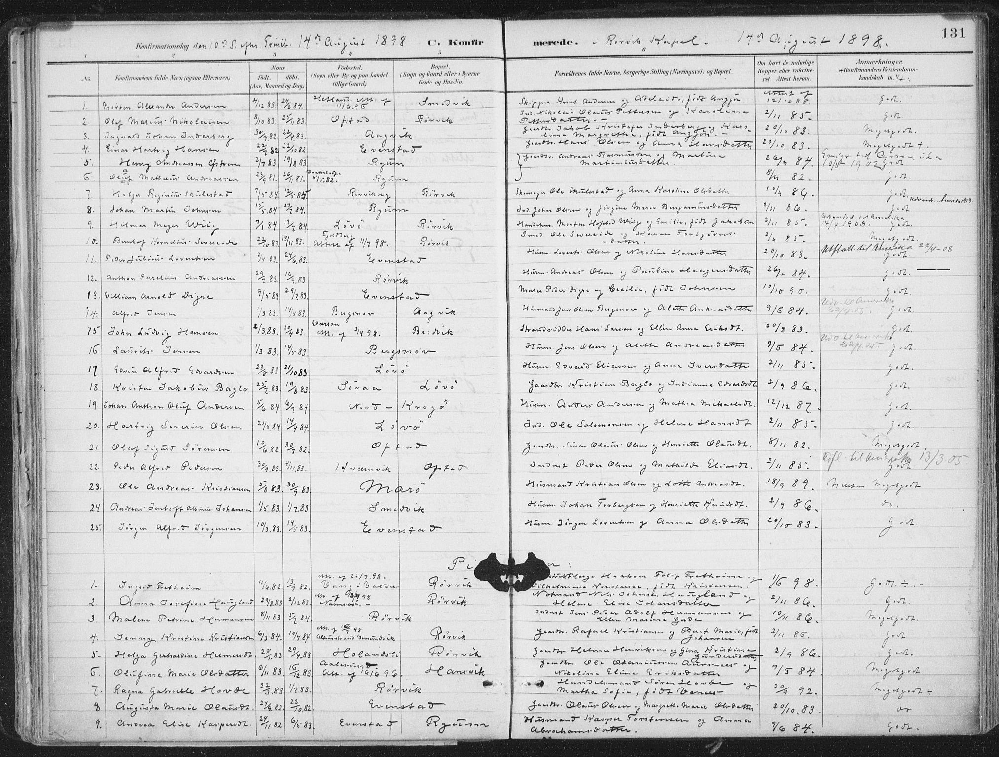 SAT, Ministerialprotokoller, klokkerbøker og fødselsregistre - Nord-Trøndelag, 786/L0687: Ministerialbok nr. 786A03, 1888-1898, s. 131