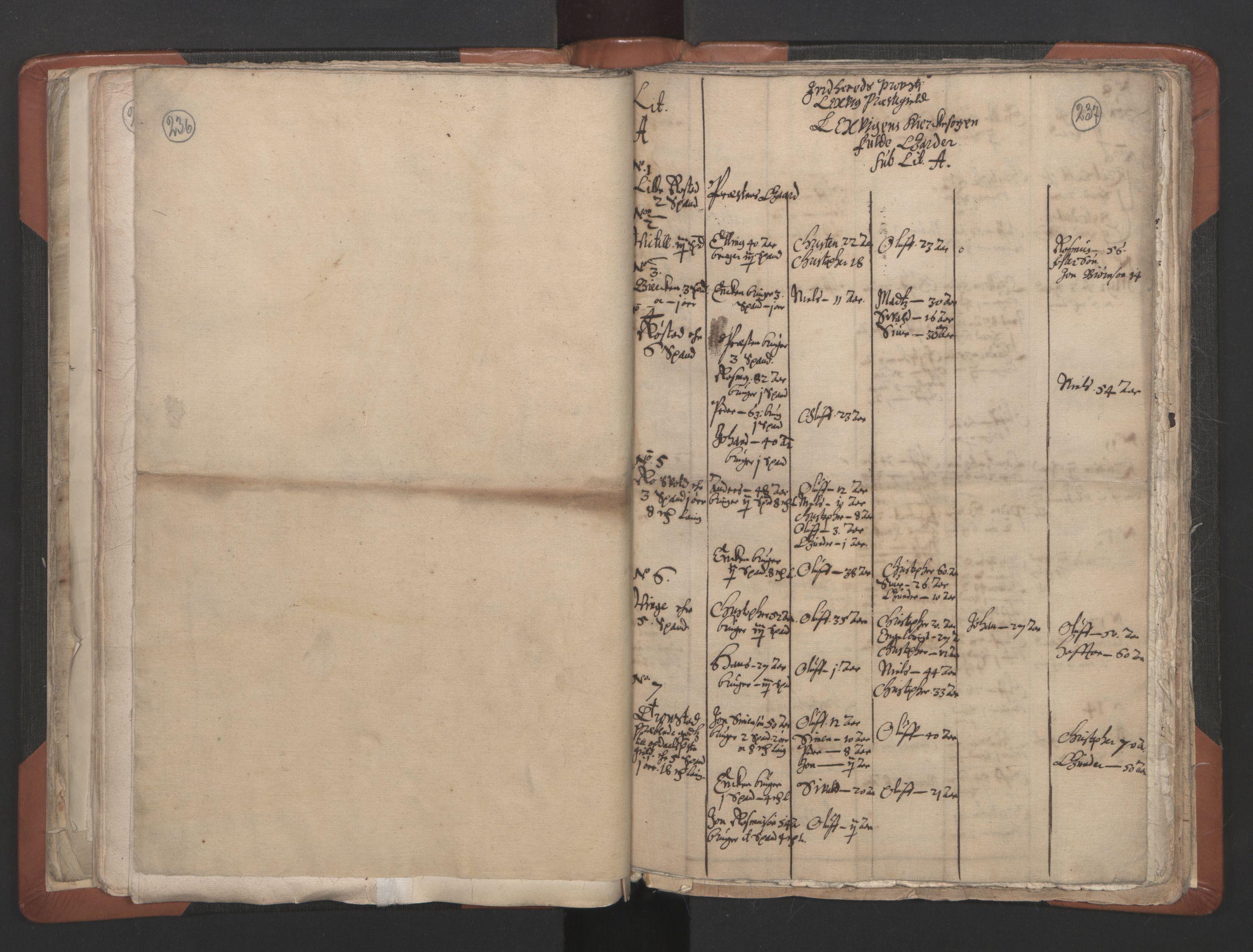 RA, Sogneprestenes manntall 1664-1666, nr. 32: Innherad prosti, 1664-1666, s. 236-237