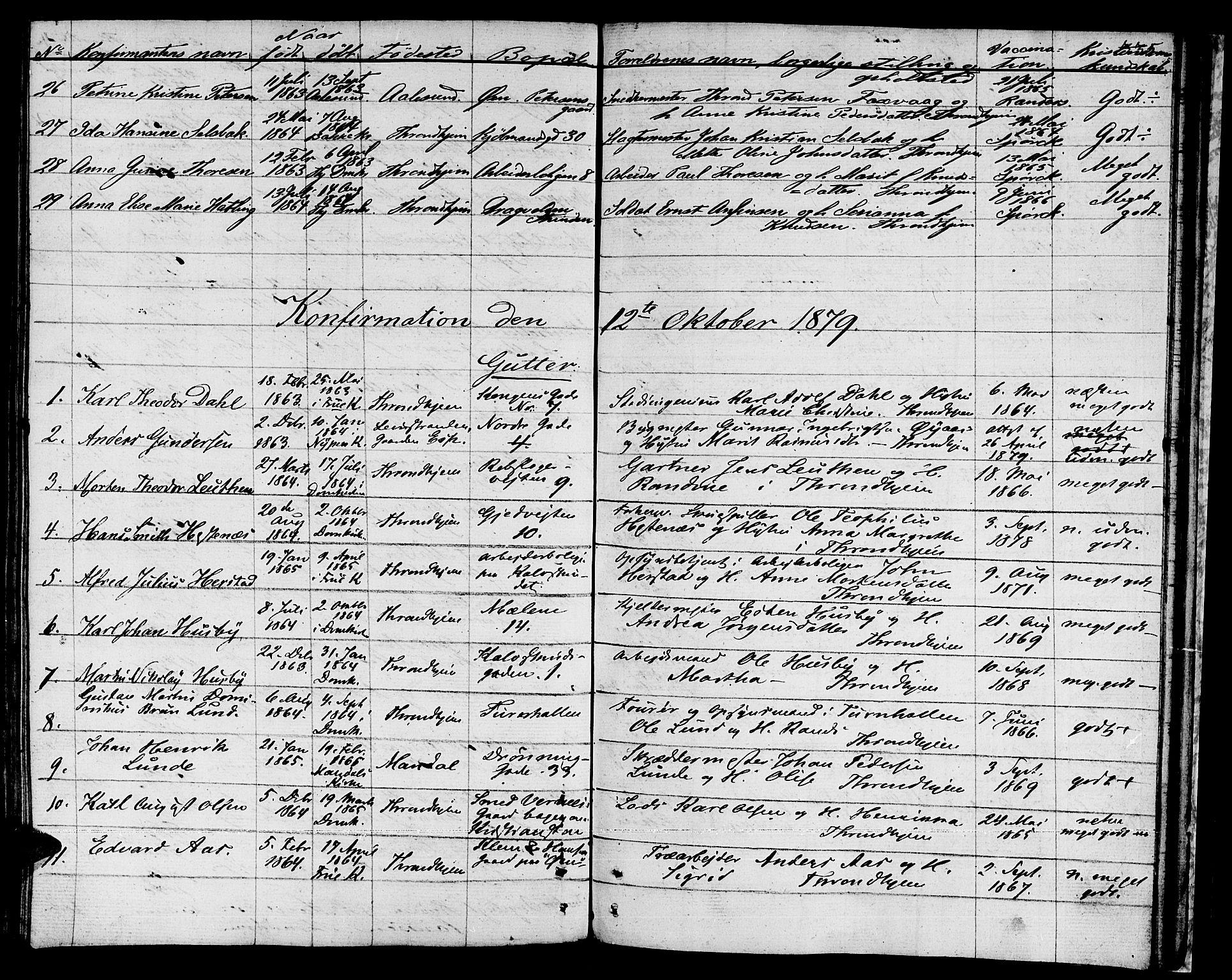 SAT, Ministerialprotokoller, klokkerbøker og fødselsregistre - Sør-Trøndelag, 601/L0070: Residerende kapellans bok nr. 601B03, 1821-1881, s. 335