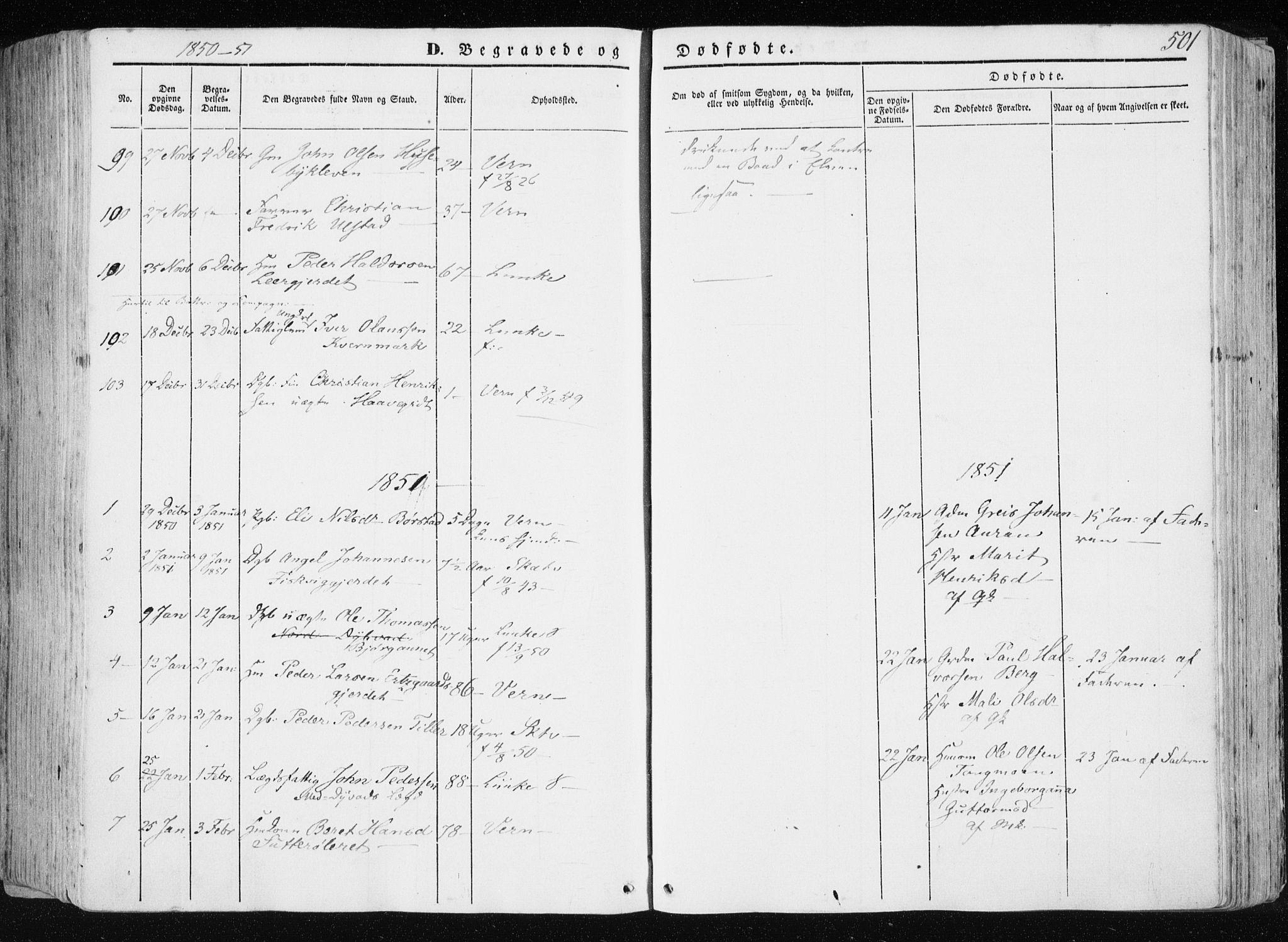 SAT, Ministerialprotokoller, klokkerbøker og fødselsregistre - Nord-Trøndelag, 709/L0074: Ministerialbok nr. 709A14, 1845-1858, s. 501