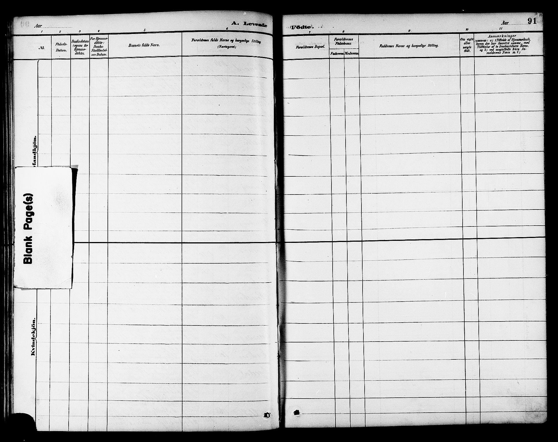 SAT, Ministerialprotokoller, klokkerbøker og fødselsregistre - Sør-Trøndelag, 695/L1157: Klokkerbok nr. 695C08, 1889-1913, s. 91