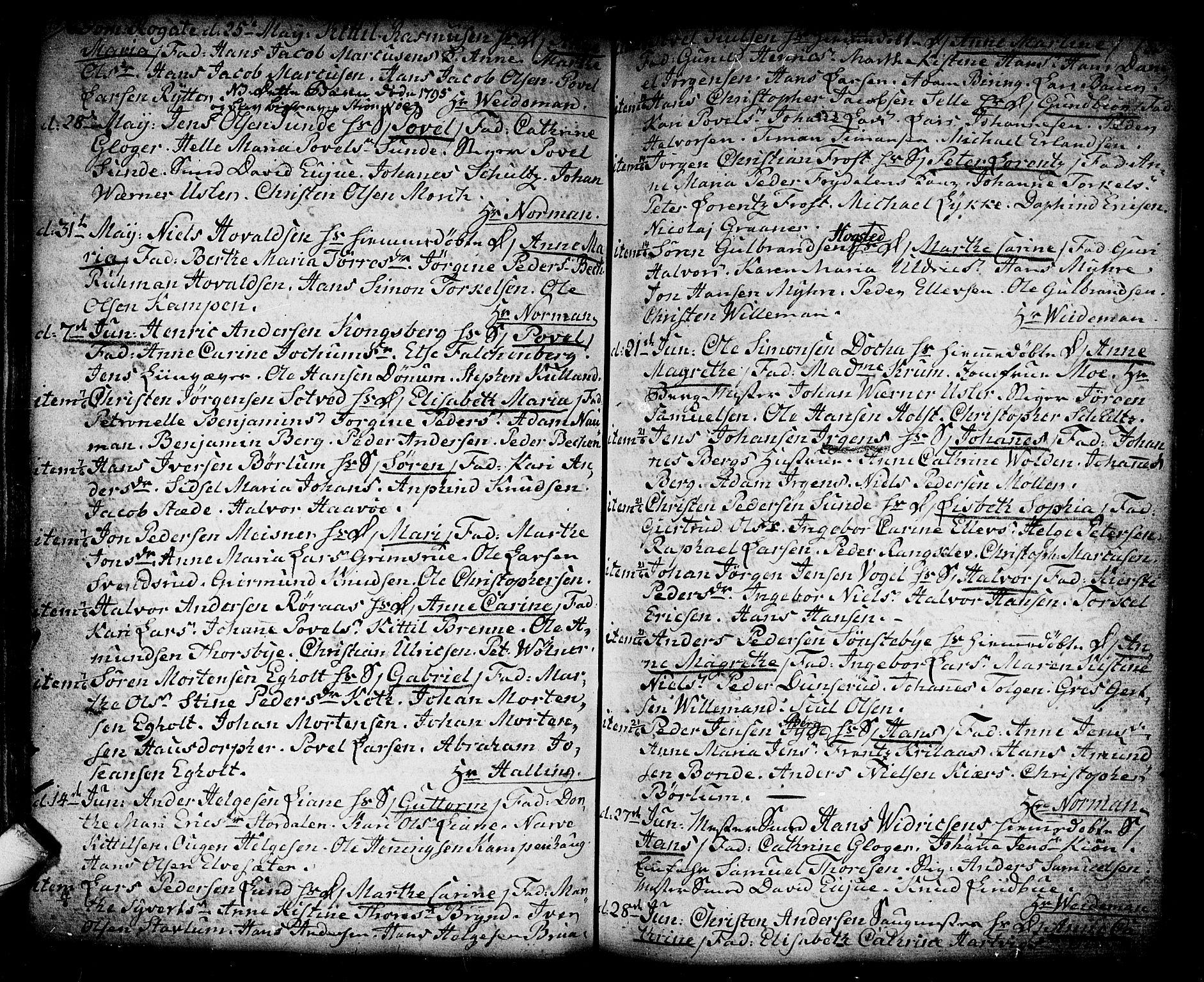 SAKO, Kongsberg kirkebøker, F/Fa/L0006: Ministerialbok nr. I 6, 1783-1797, s. 183