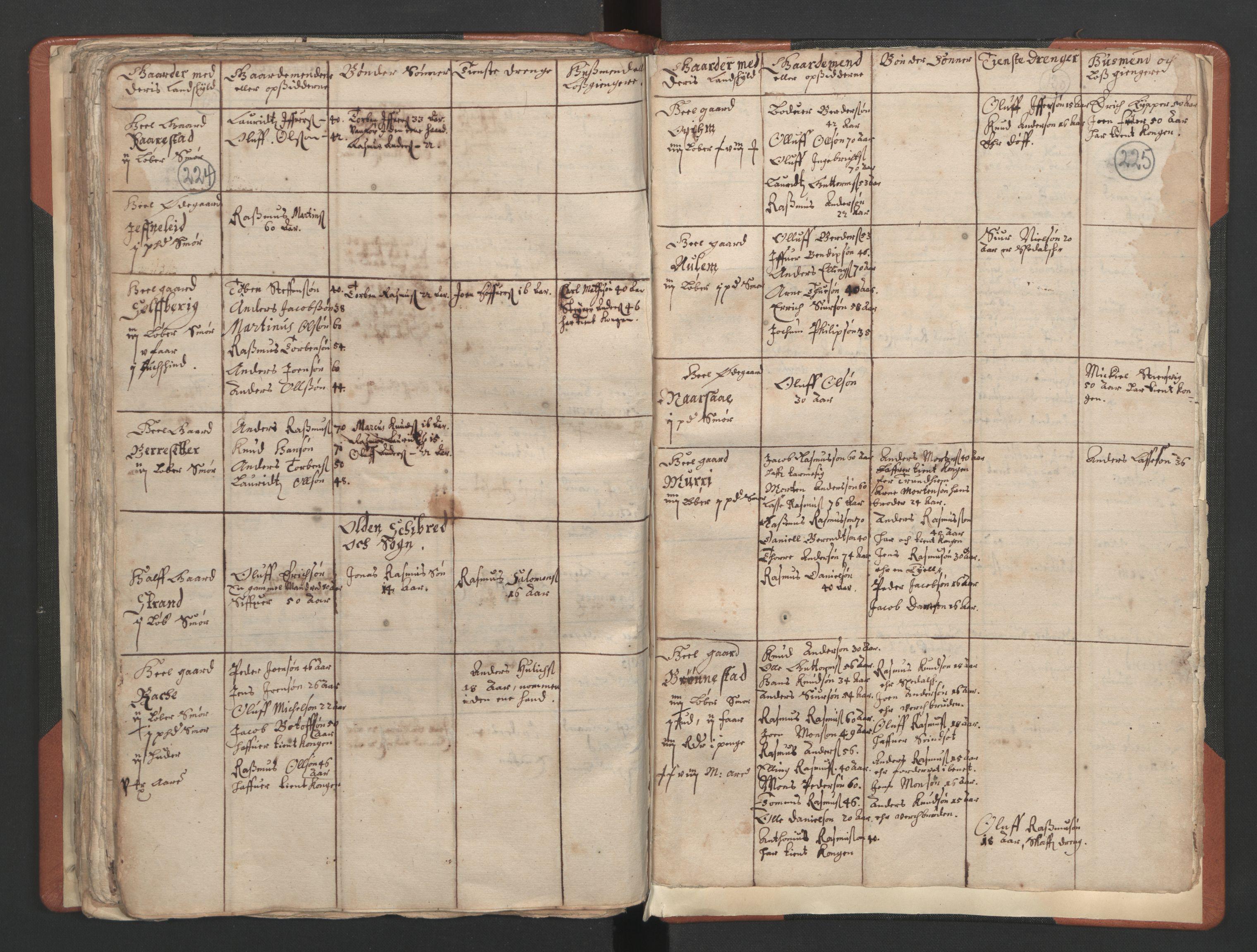 RA, Sogneprestenes manntall 1664-1666, nr. 25: Nordfjord prosti, 1664-1666, s. 224-225