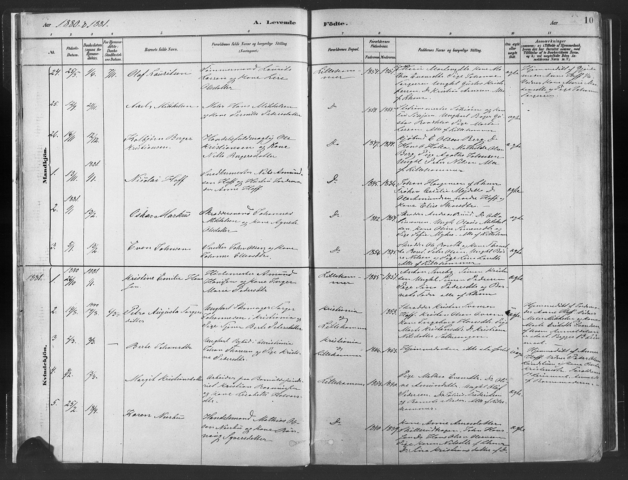 SAH, Fåberg prestekontor, Ministerialbok nr. 10, 1879-1900, s. 10