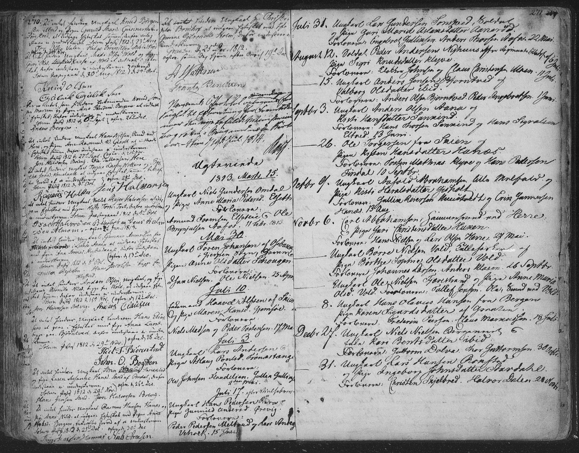 SAKO, Solum kirkebøker, F/Fa/L0003: Ministerialbok nr. I 3, 1761-1814, s. 270-271