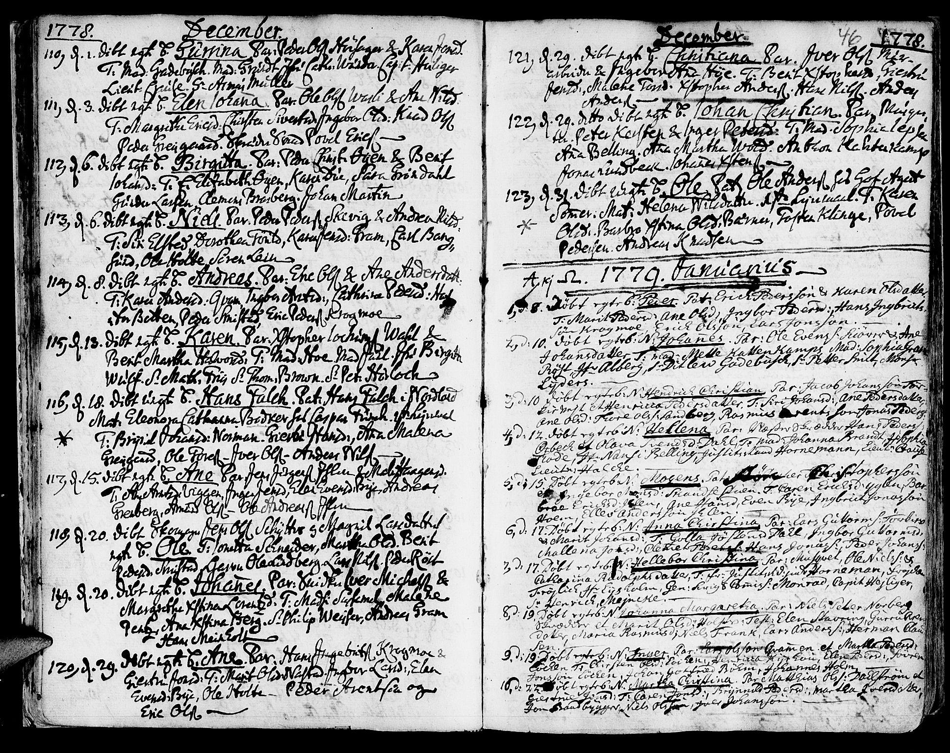 SAT, Ministerialprotokoller, klokkerbøker og fødselsregistre - Sør-Trøndelag, 601/L0039: Ministerialbok nr. 601A07, 1770-1819, s. 46