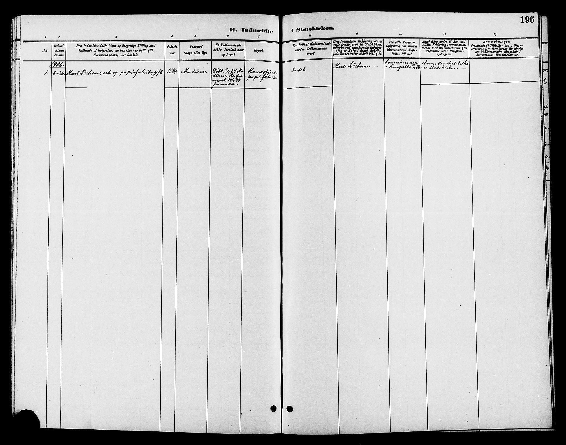 SAH, Jevnaker prestekontor, Klokkerbok nr. 2, 1896-1906, s. 196