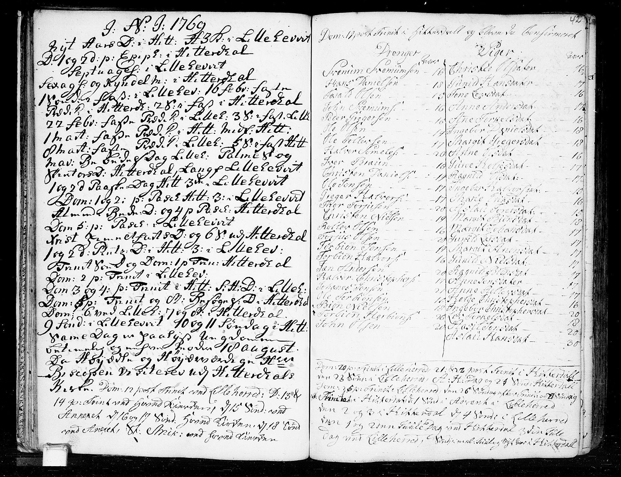 SAKO, Heddal kirkebøker, F/Fa/L0003: Ministerialbok nr. I 3, 1723-1783, s. 42