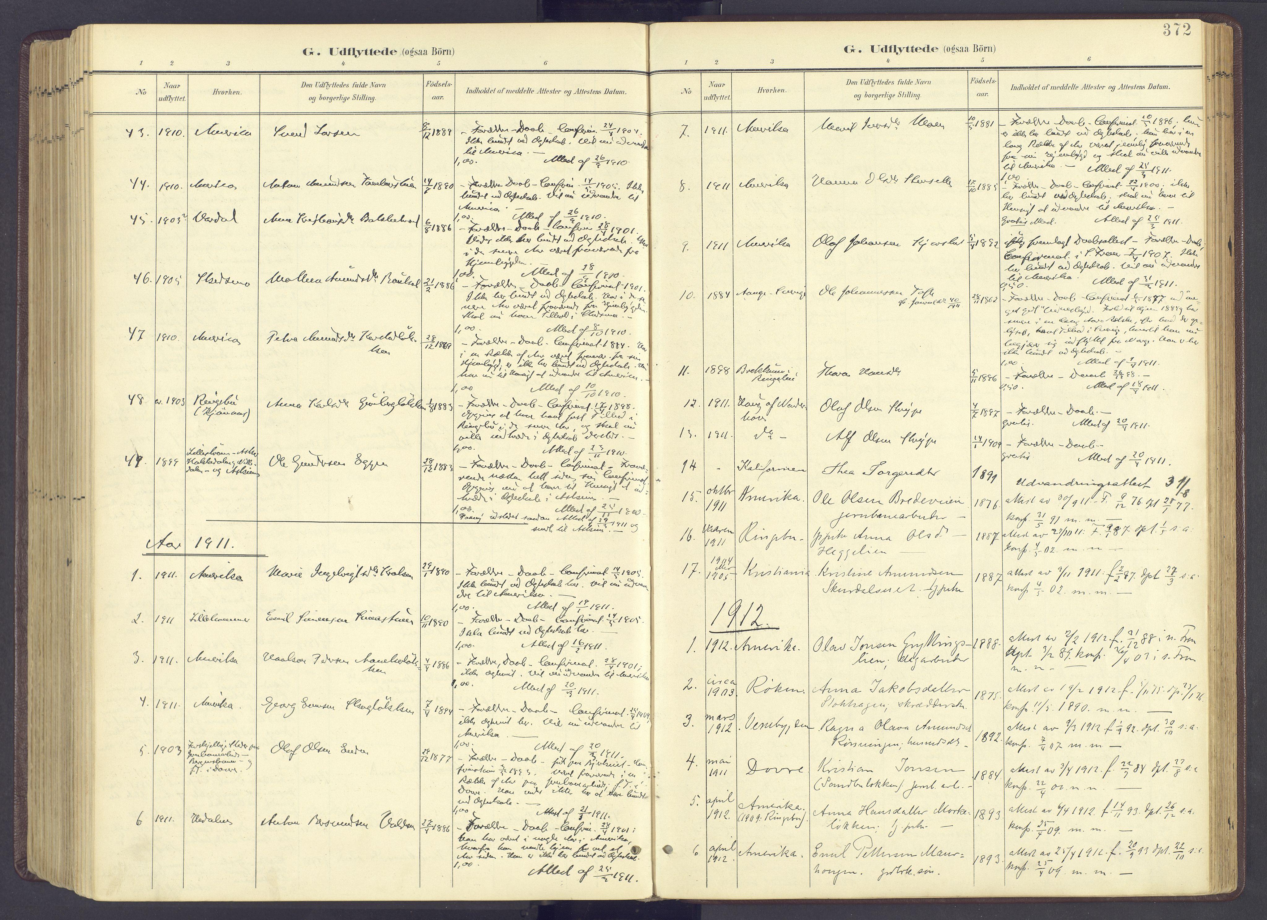 SAH, Sør-Fron prestekontor, H/Ha/Haa/L0004: Ministerialbok nr. 4, 1898-1919, s. 372