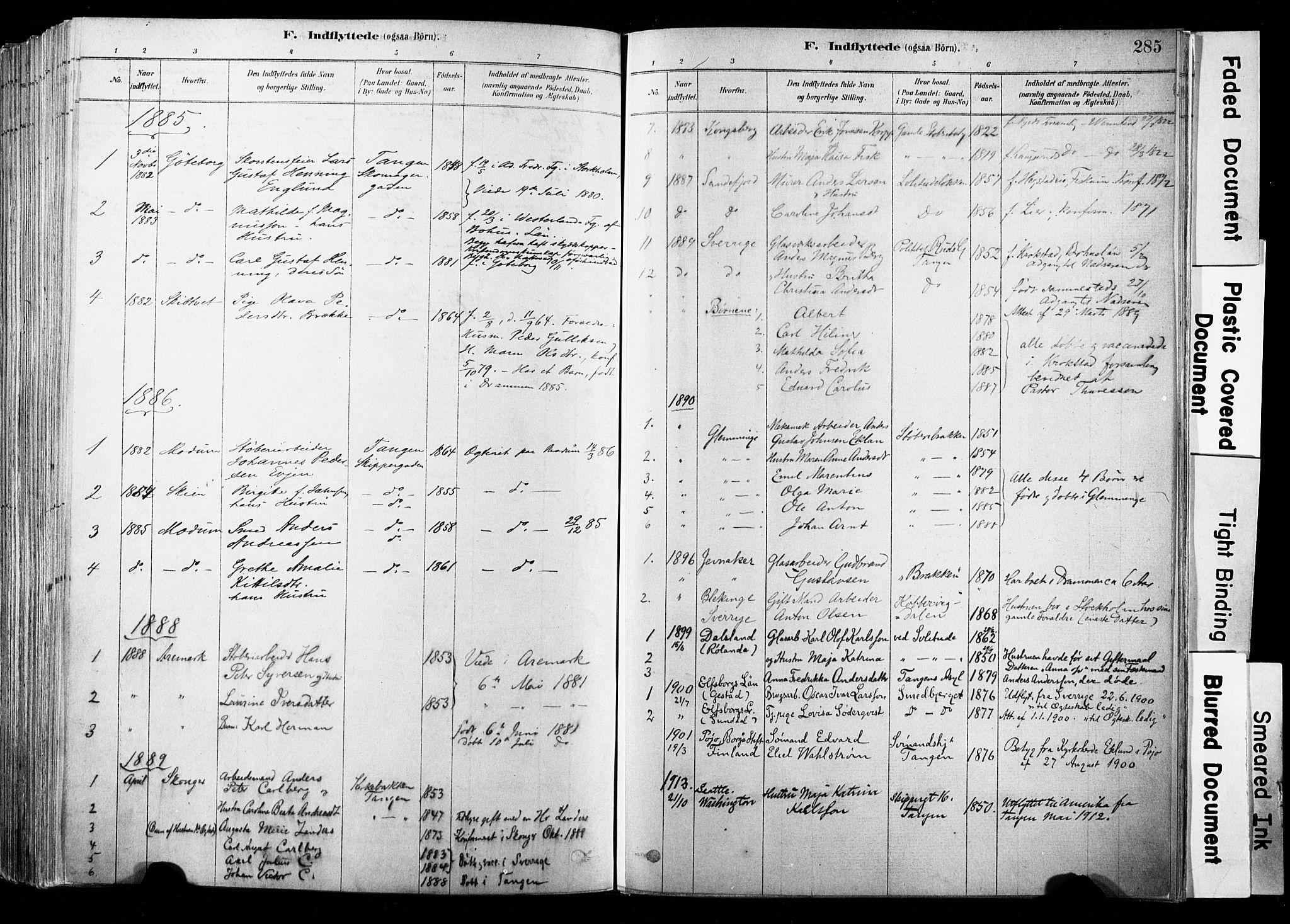 SAKO, Strømsø kirkebøker, F/Fb/L0006: Ministerialbok nr. II 6, 1879-1910, s. 285