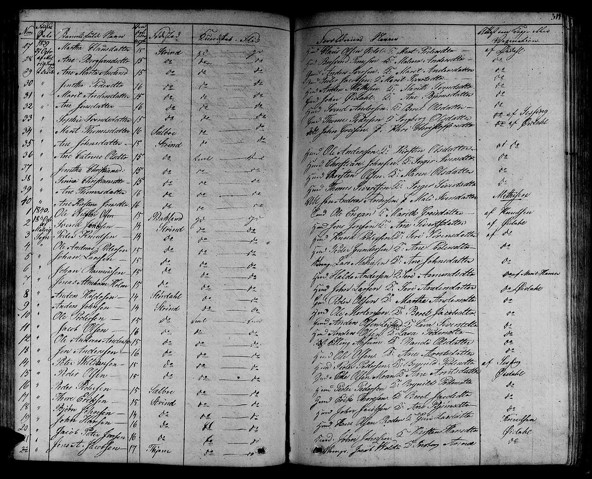SAT, Ministerialprotokoller, klokkerbøker og fødselsregistre - Sør-Trøndelag, 606/L0286: Ministerialbok nr. 606A04 /1, 1823-1840, s. 314