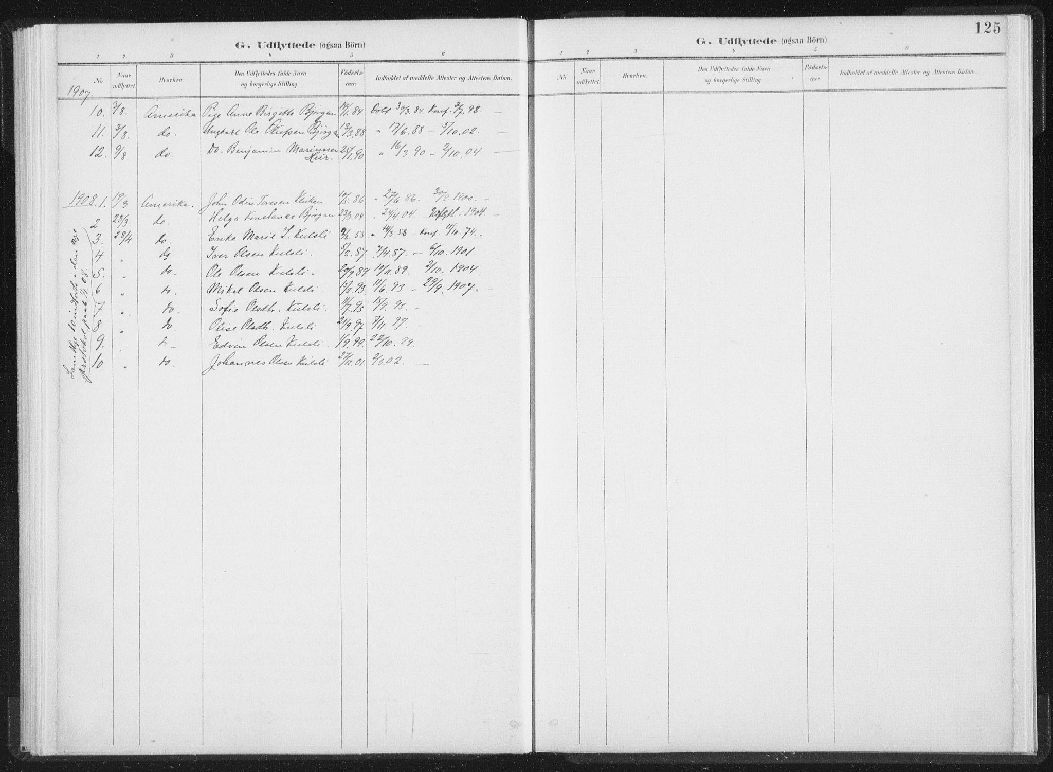 SAT, Ministerialprotokoller, klokkerbøker og fødselsregistre - Nord-Trøndelag, 724/L0263: Ministerialbok nr. 724A01, 1891-1907, s. 125