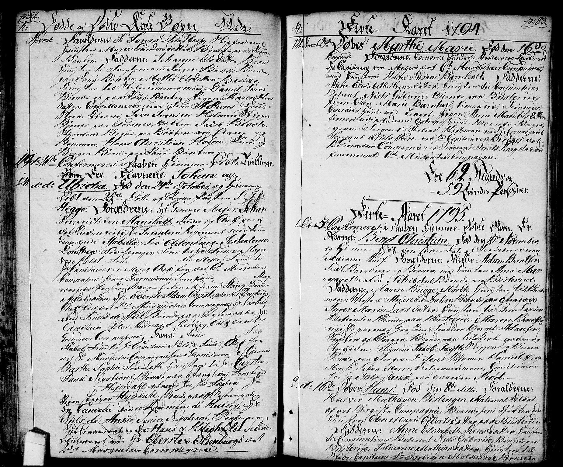 SAO, Halden prestekontor Kirkebøker, F/Fa/L0002: Ministerialbok nr. I 2, 1792-1812, s. 82-83