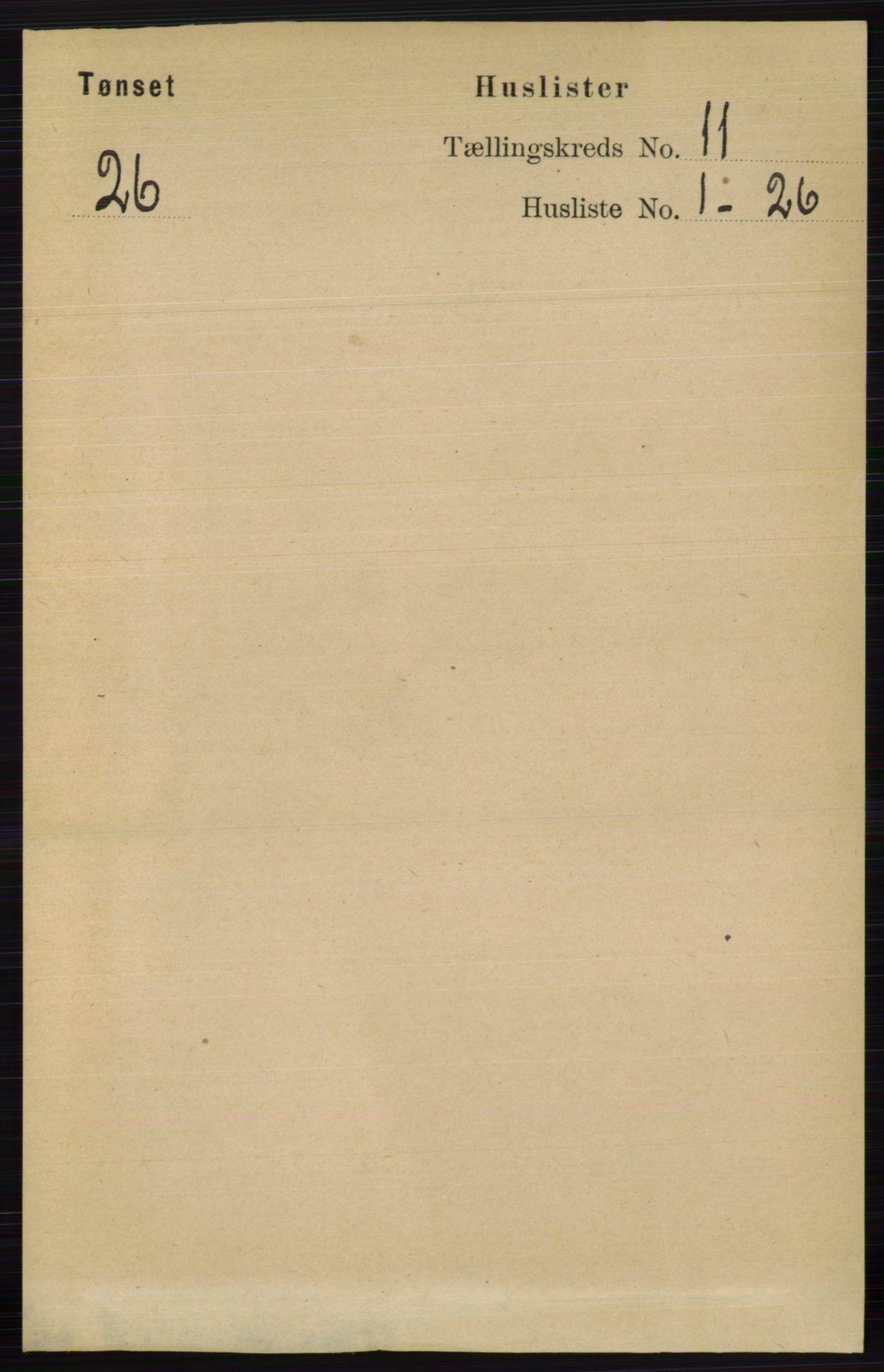 RA, Folketelling 1891 for 0437 Tynset herred, 1891, s. 2983