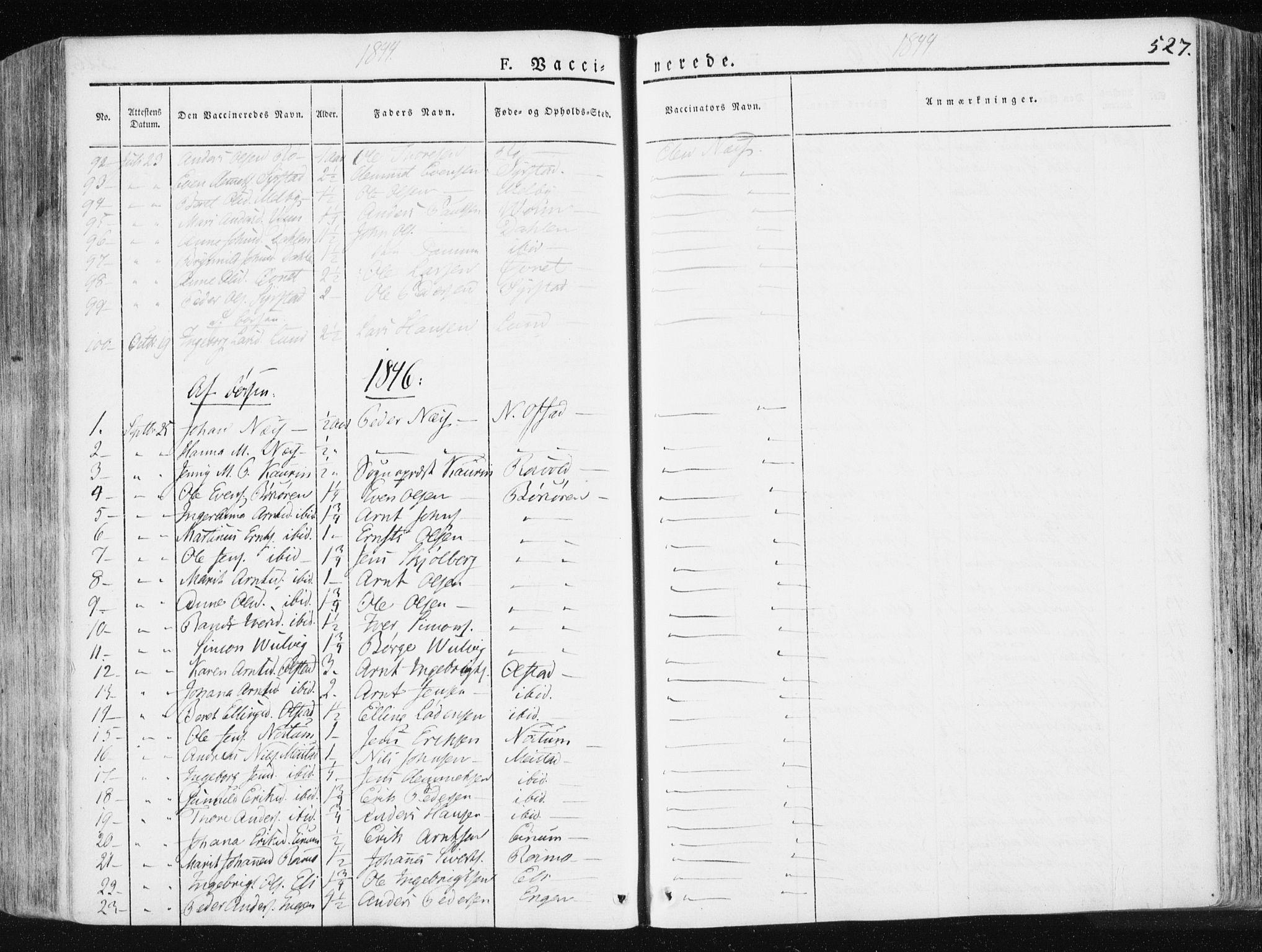 SAT, Ministerialprotokoller, klokkerbøker og fødselsregistre - Sør-Trøndelag, 665/L0771: Ministerialbok nr. 665A06, 1830-1856, s. 527