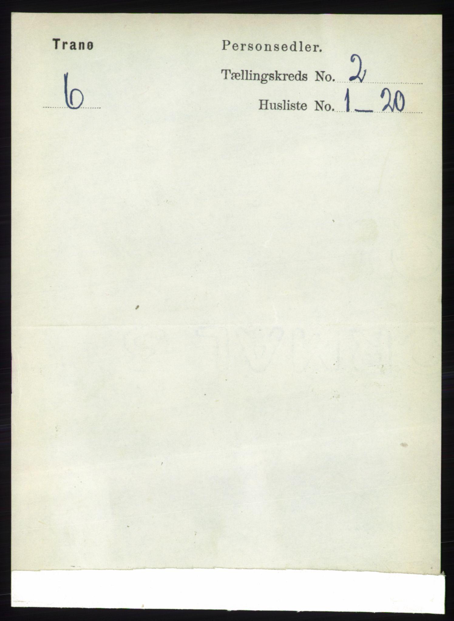 RA, Folketelling 1891 for 1927 Tranøy herred, 1891, s. 480